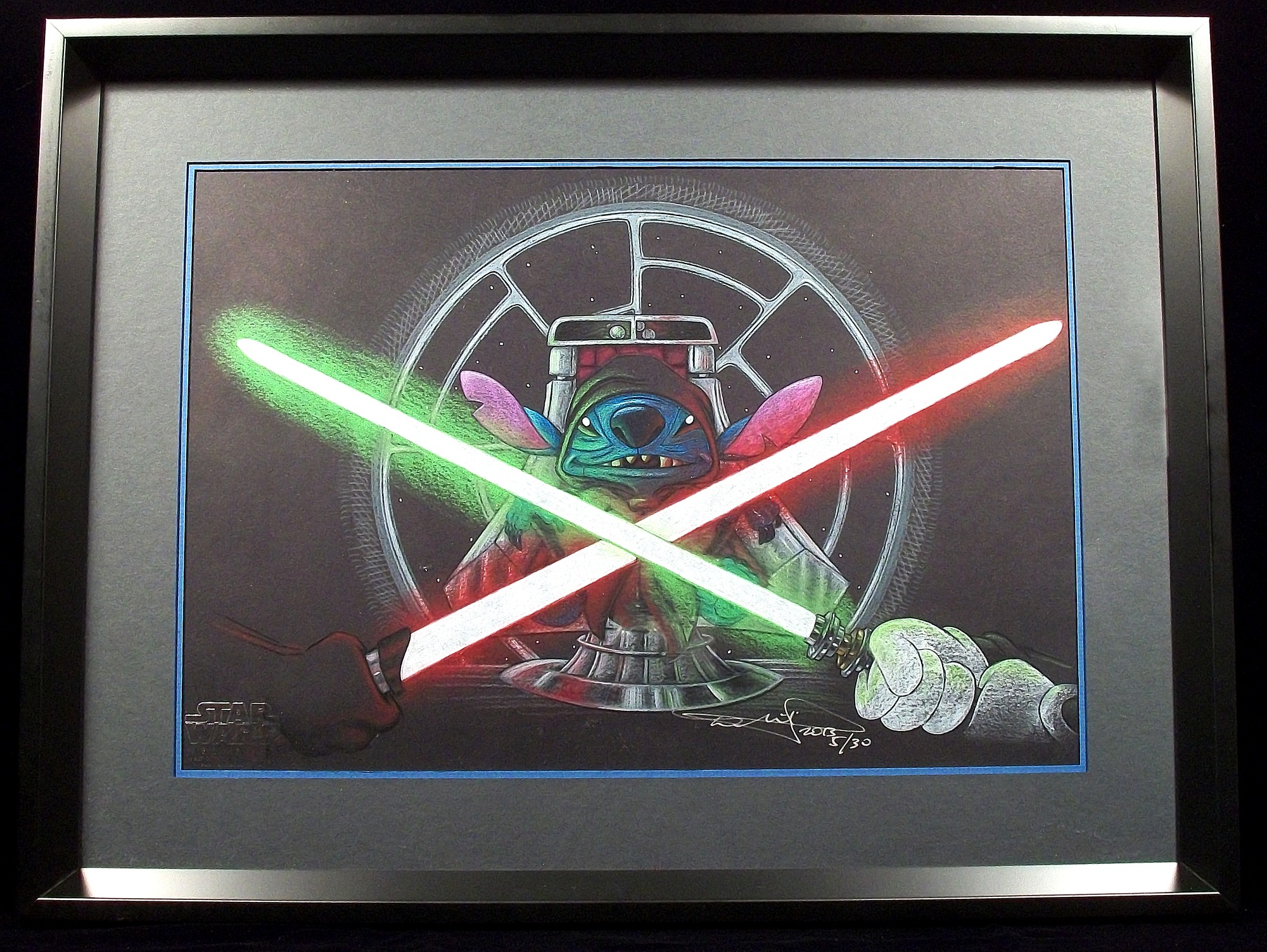 "Full Color Illustration ~ Stitch as Emperor Palpatine in ""So be it, Jedi"""