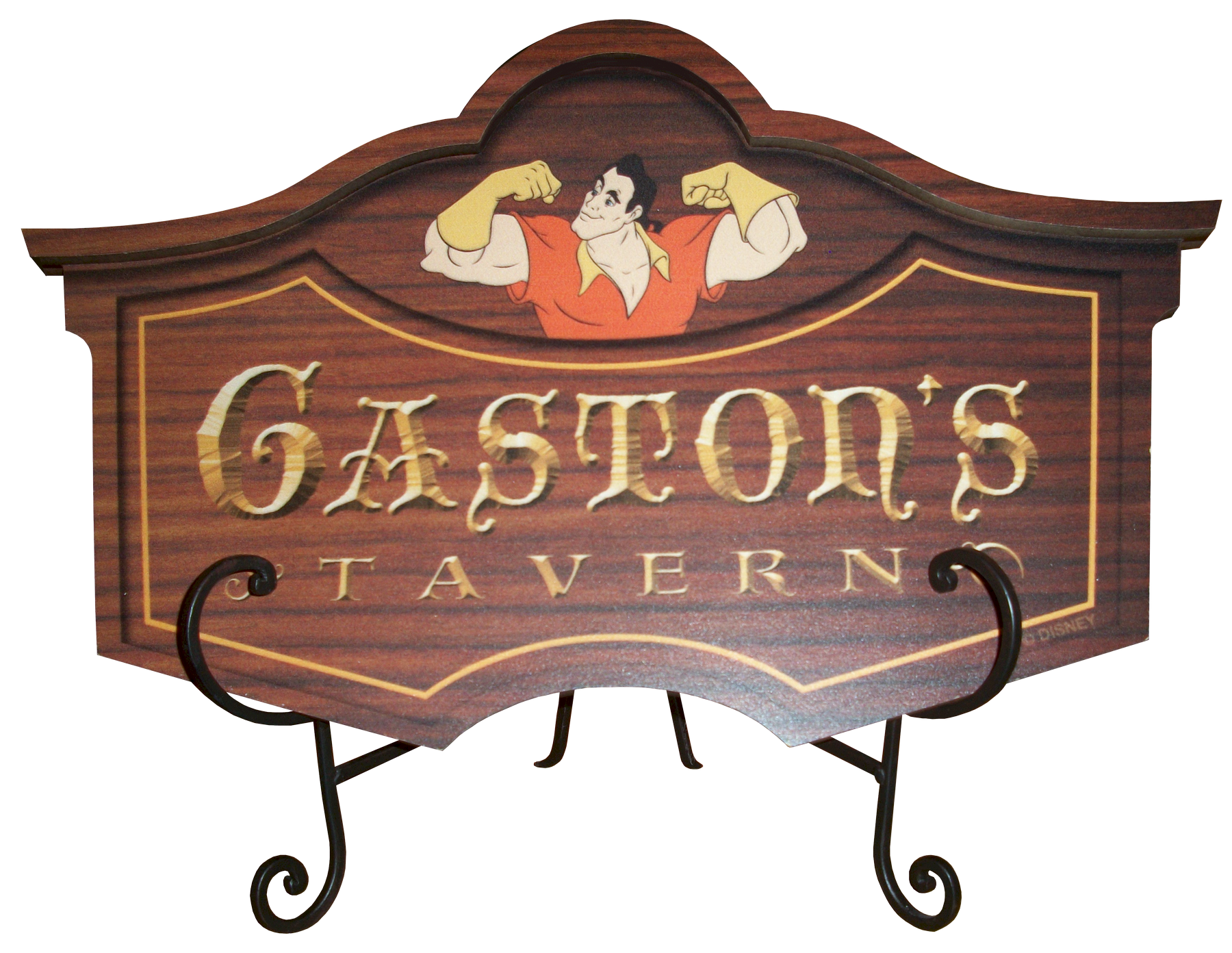 Disney Magic Kingdom Gaston's Tavern Sign