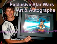 Exclusive one of a kind and actor autographed Star Wars Weekends artworks