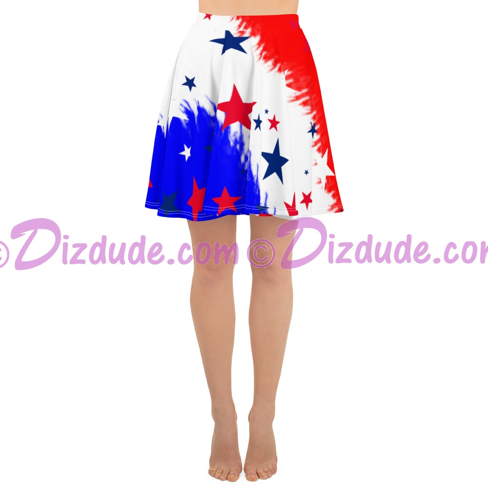 Stars and Stripes All Over Print Ladies Skirt © Hippieworks