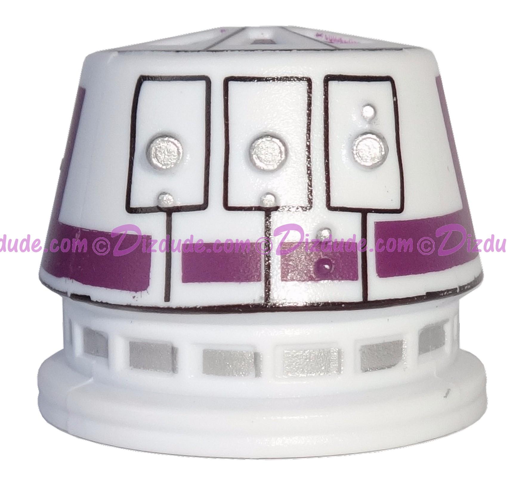 R5 White & Purple Astromech Droid Dome ~ Series 2 from Disney Star Wars Build-A-Droid Factory © Dizdude.com