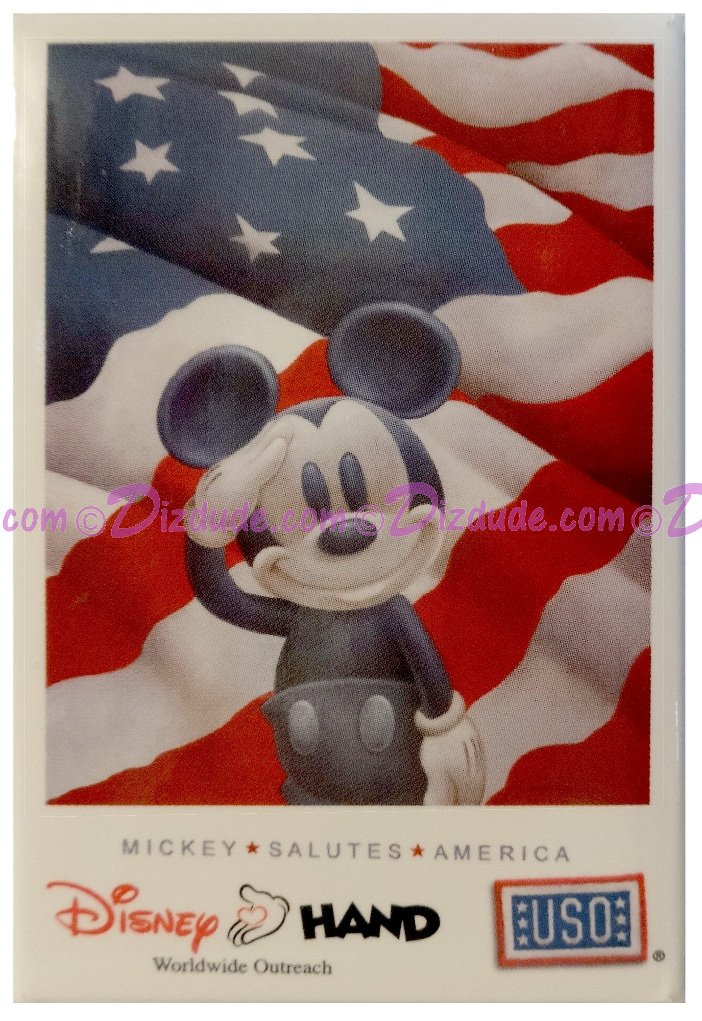 Walt Disney World Mickey Salutes America Button © Dizdude.com