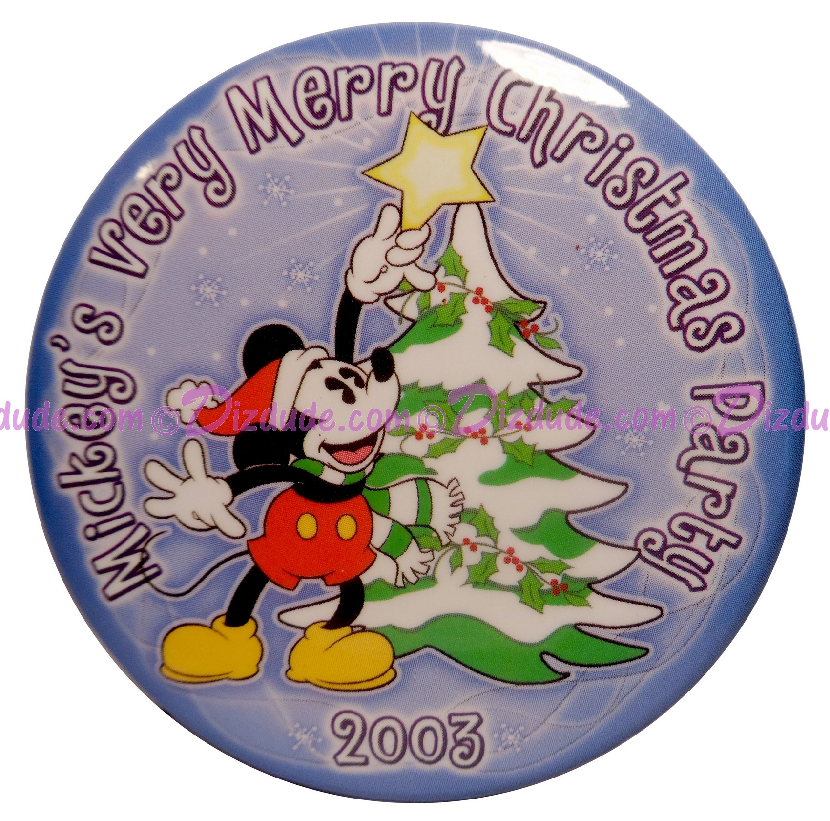 Walt Disney World Mickey's Very Merry Christmas Party 2003 Button © Dizdude.com