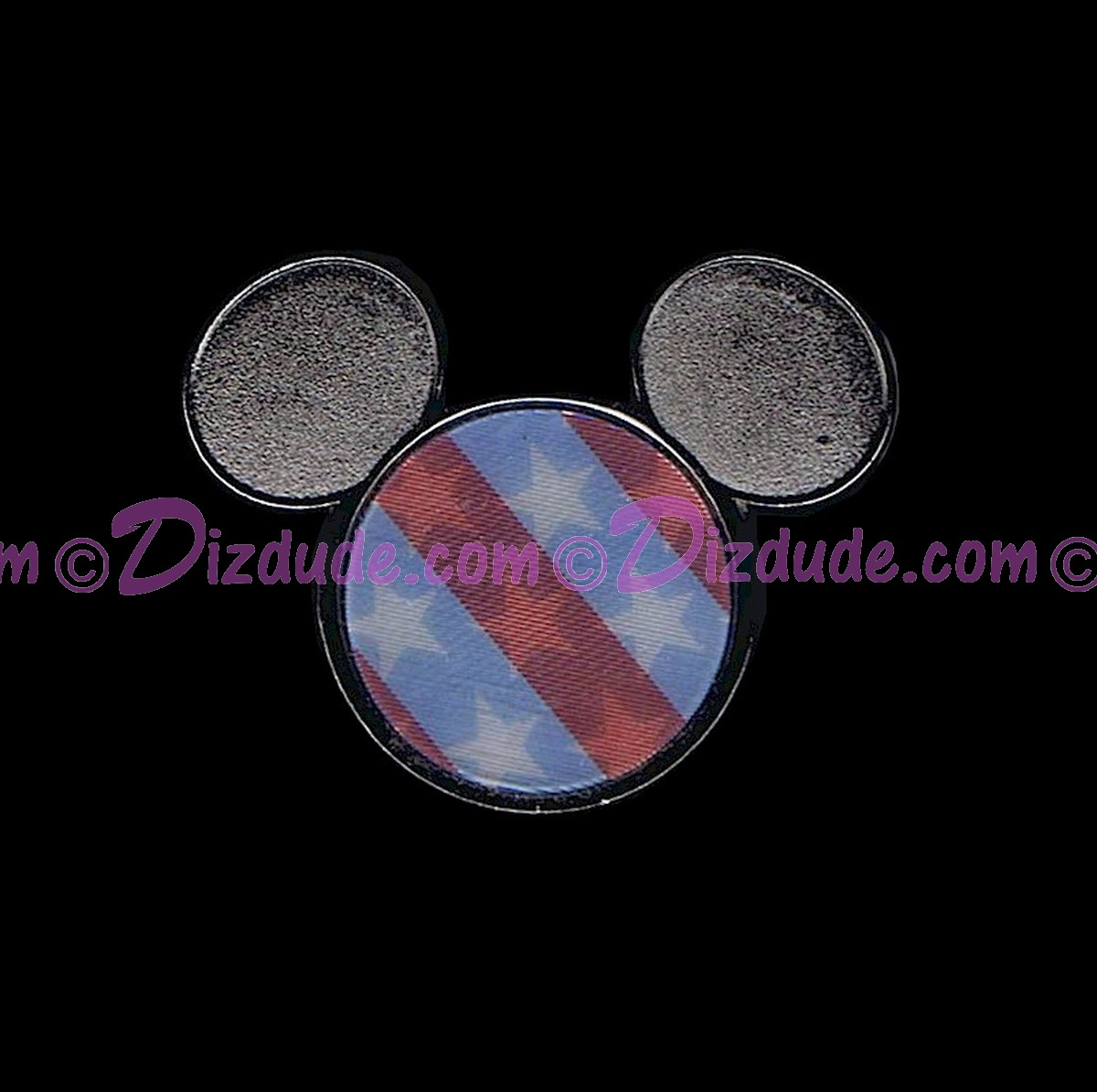 Disney Lenticular Flag - Mickey Mouse Icon Pin © Dizdude.com