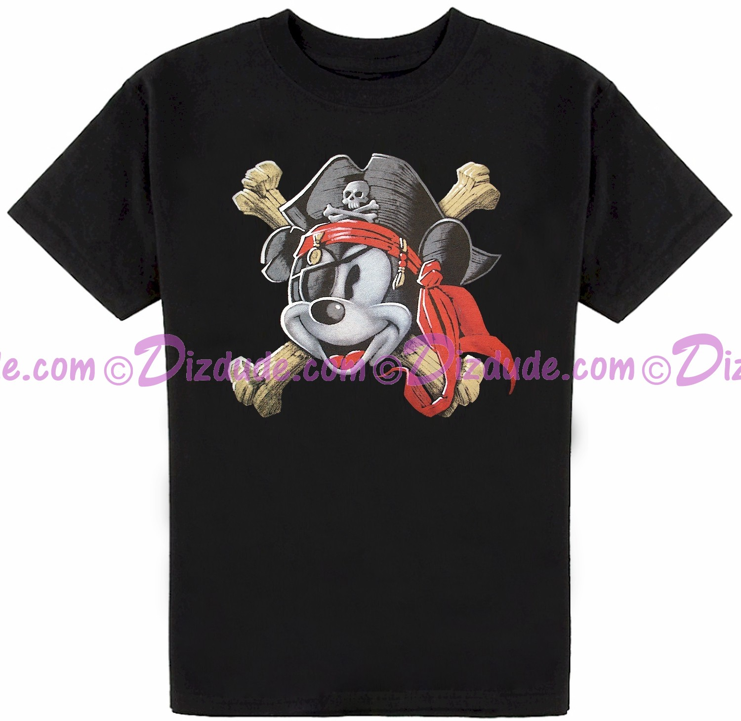 Vintage Pirate Captain Mickey Mouse Youth T-shirt (Tee, Tshirt or T shirt)