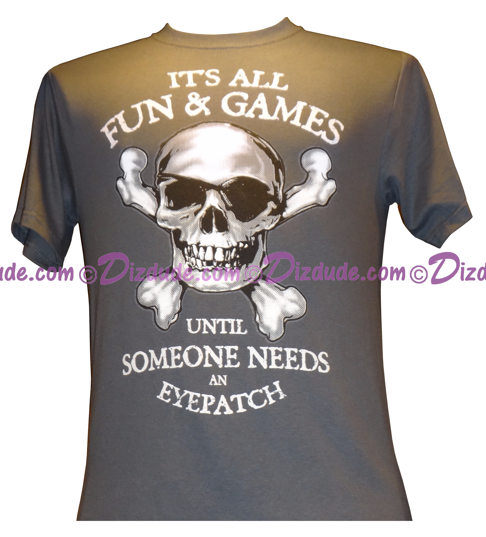Vintage Pirates of the Caribbean Its All Fun & Games ... Until Someone Needs An Eyepatch T-shirt (Tee, Tshirt or T shirt)
