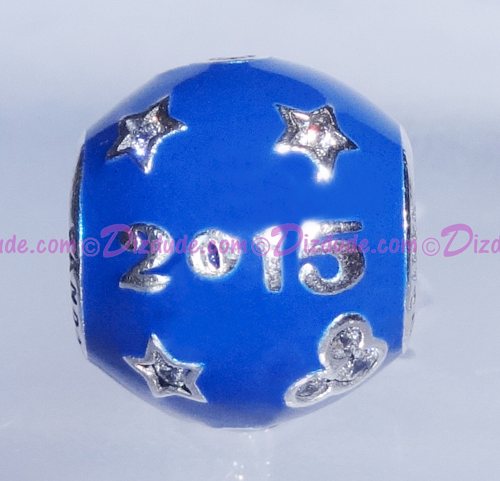 """(SOLD OUT) Disney Pandora """"2015 Edition"""" Sterling Silver Charm with Cubic Zirconias - Disney World Parks Exclusive"""