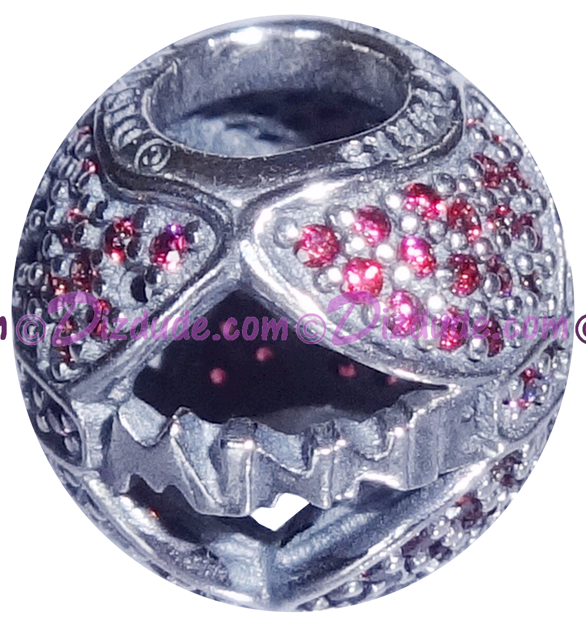 """(SOLD OUT) Disney Pandora """"Minnie's Sparkling Bow"""" Sterling Silver Charm with Red Cubic Zirconias - Disney World Parks Exclusive"""