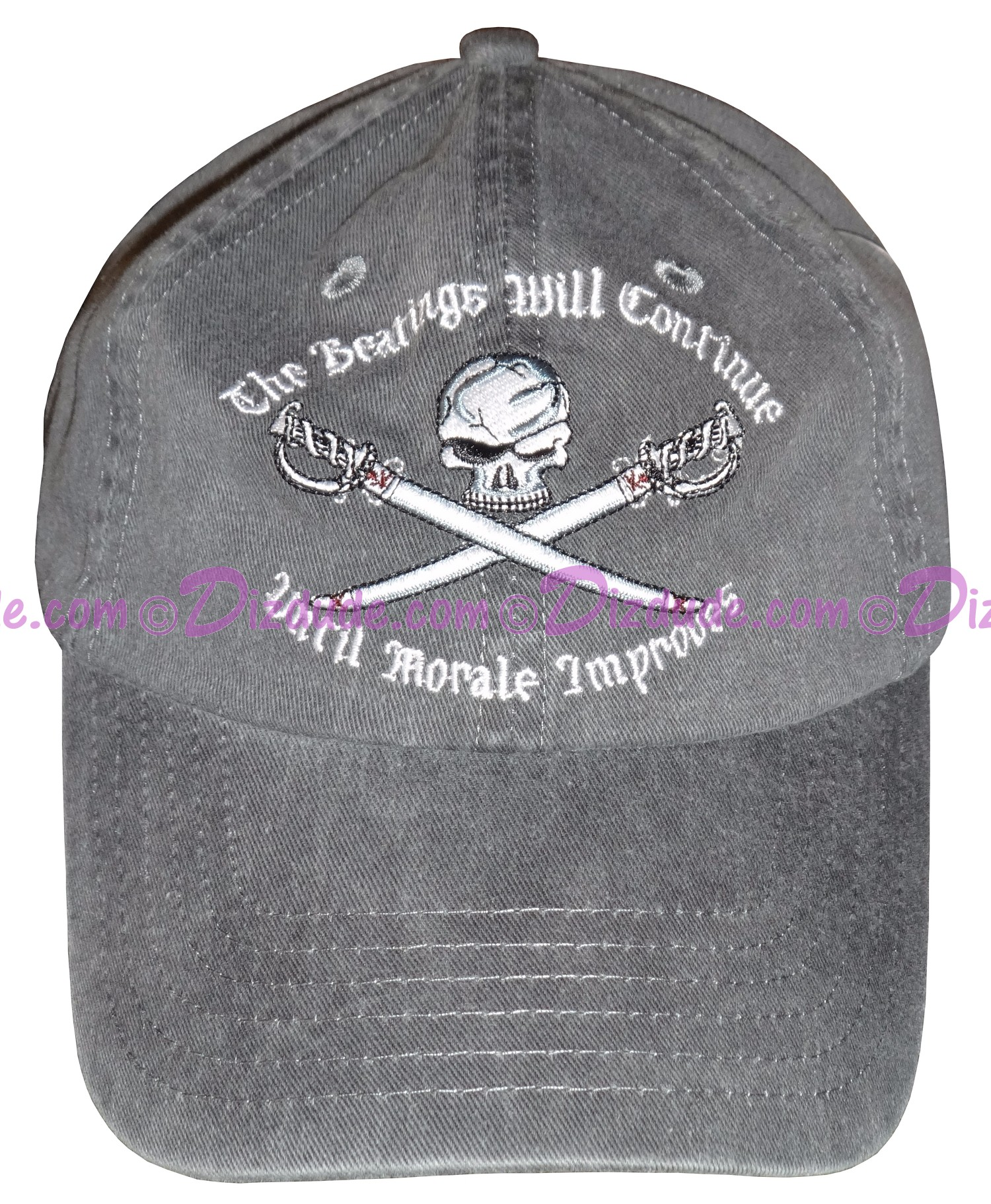 "(SOLD OUT) Pirates of the Caribbean ""The Beatings Will Continue Until Moral Improves"" Embroidered Hat ~ Disney Magic Kingdom"