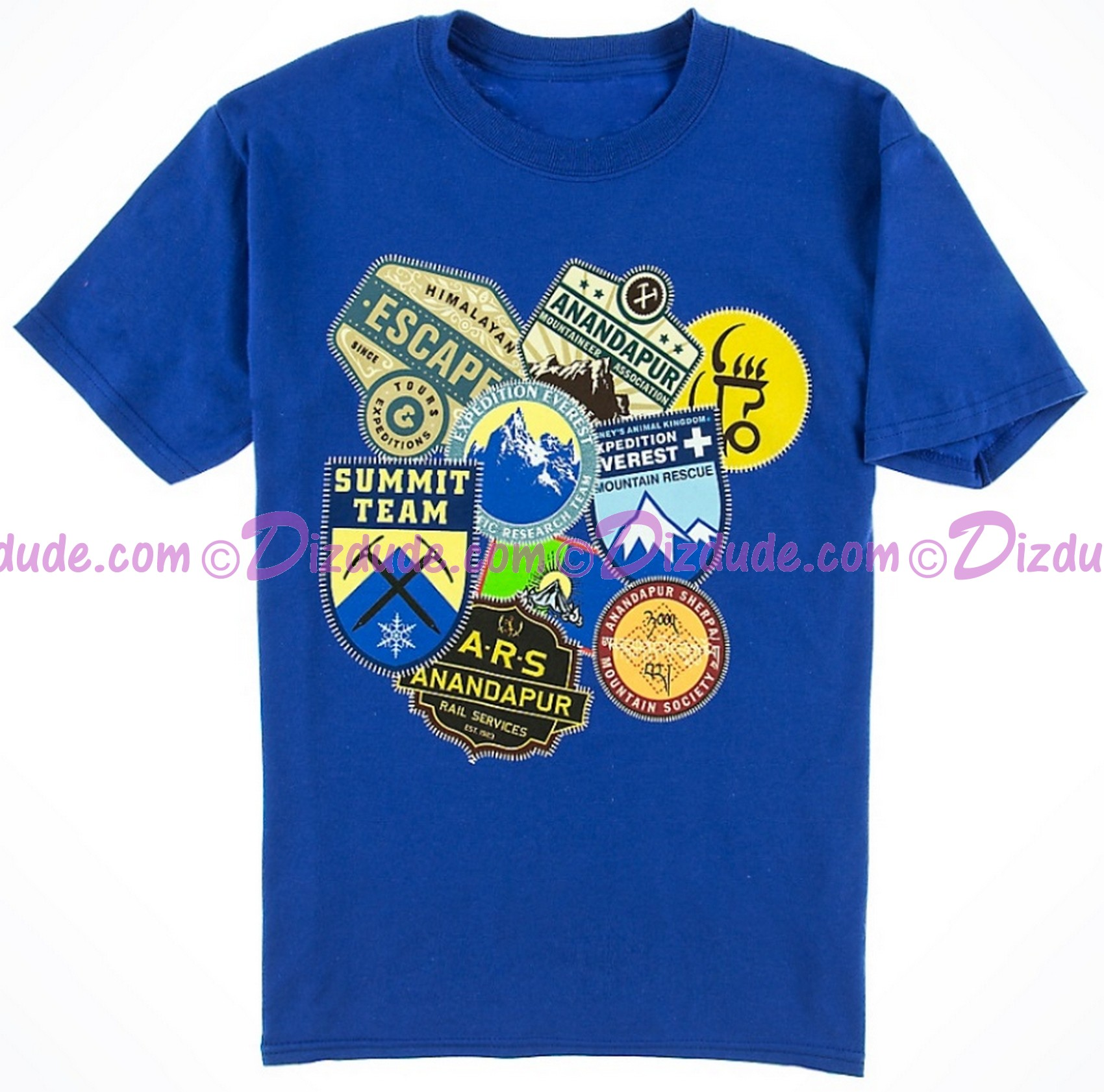 (SOLD OUT) VINTAGE Disney Animal Kingdoms Expedition Everest Patches Youth T-Shirt (Tee, Tshirt or T shirt)