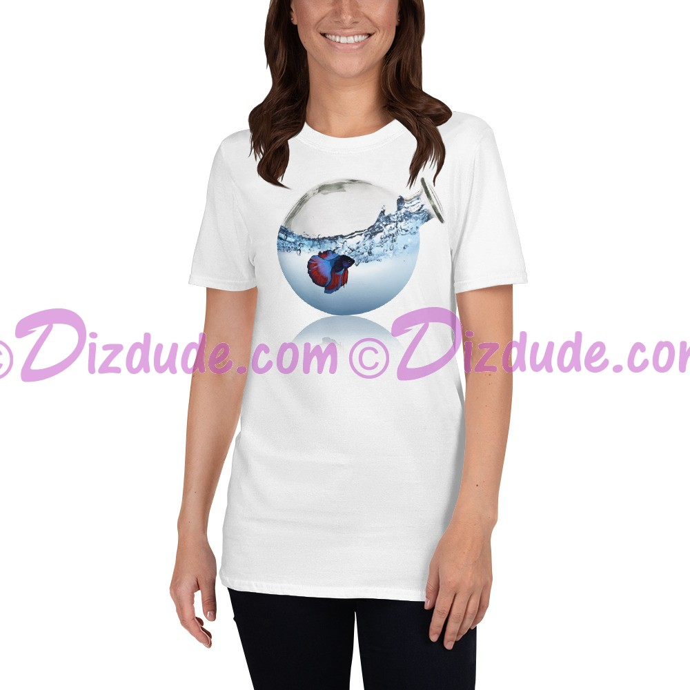 Fish in Vase T-Shirt or Tank Top in White (Tshirt, T shirt or Tee) © HIPPIEWORKS