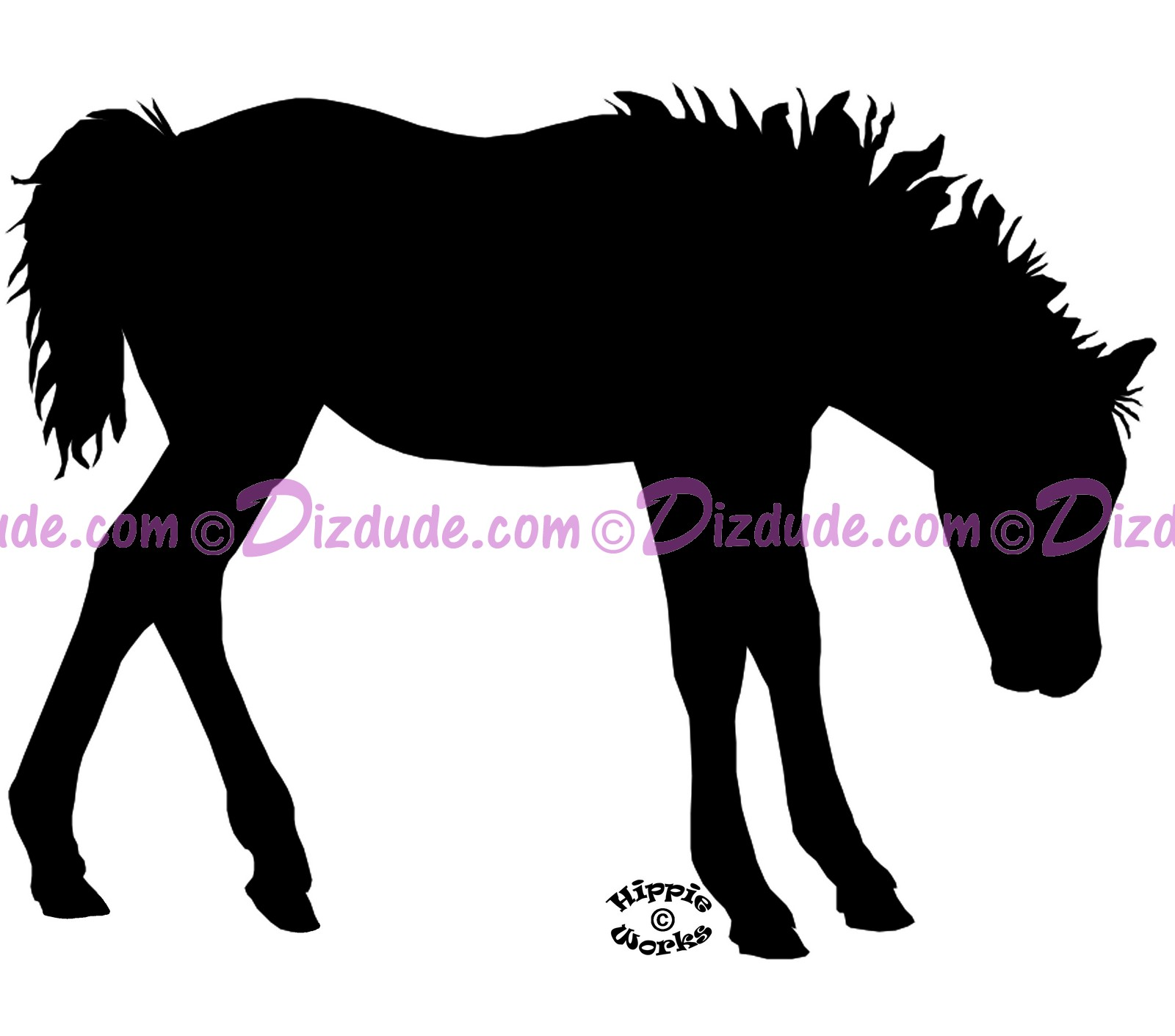 Silhouette Foal Shaking T-Shirt or Tank Top (Tshirt, T shirt or Tee) © Hippieworks