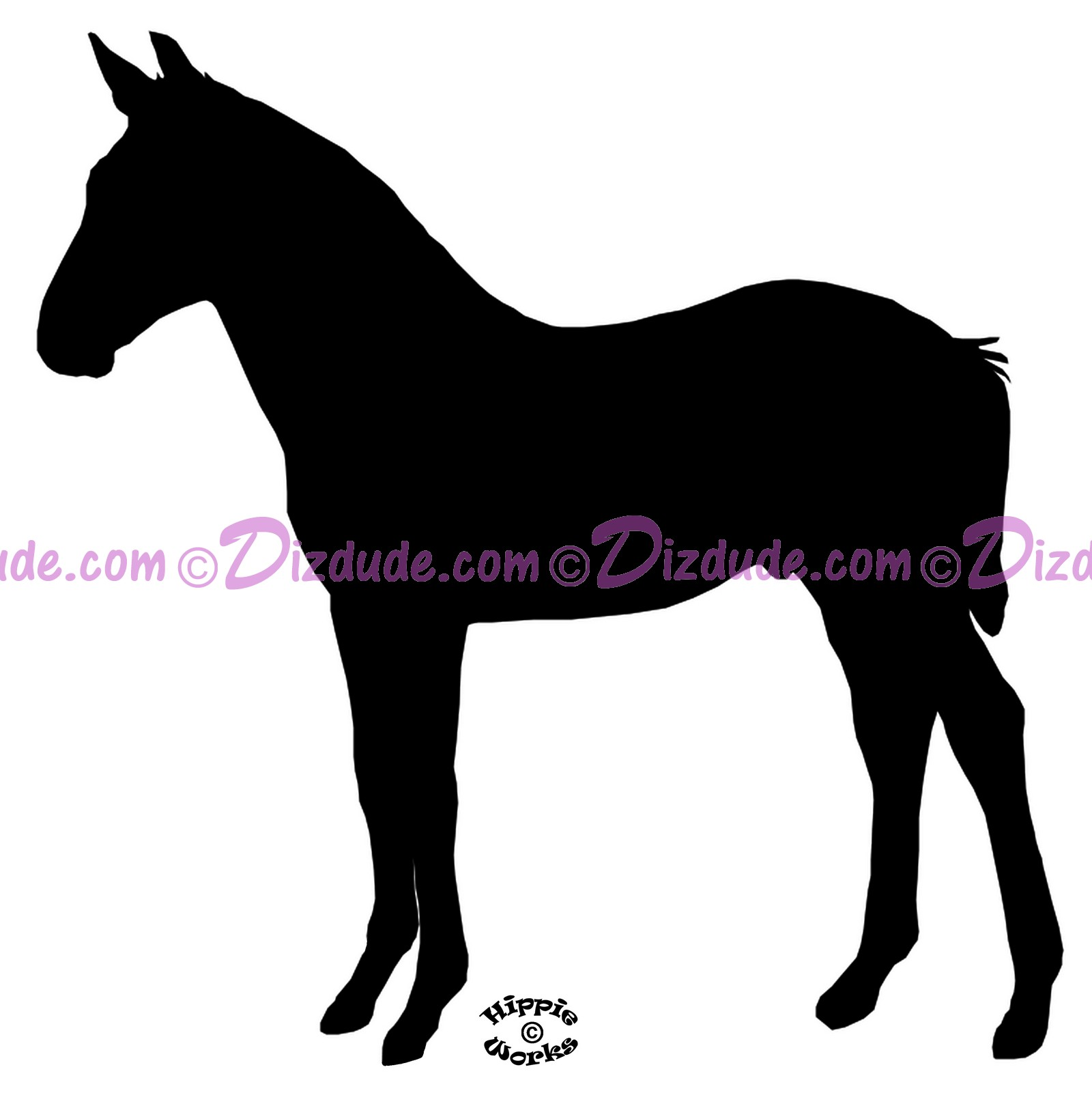 Silhouette Foal Standing T-Shirt or Tank Top (Tshirt, T shirt or Tee) © Hippieworks