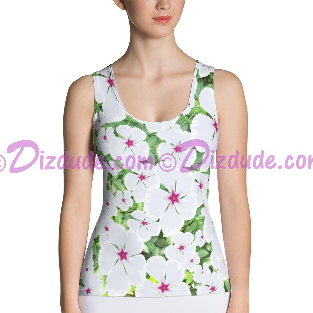 Small White Periwinkle All Over Print Ladies Tank Top © Hippieworks