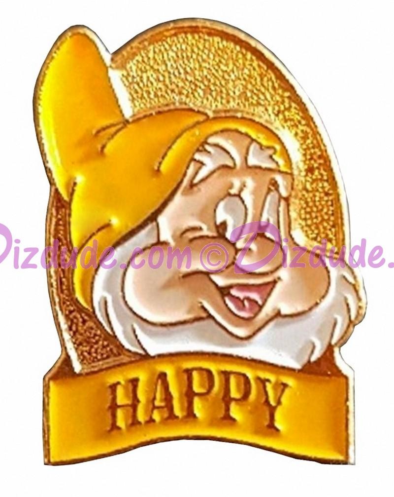 Disney Snow White and the Seven Dwarfs Video & DVD Release - Happy Pin © Dizdude.com
