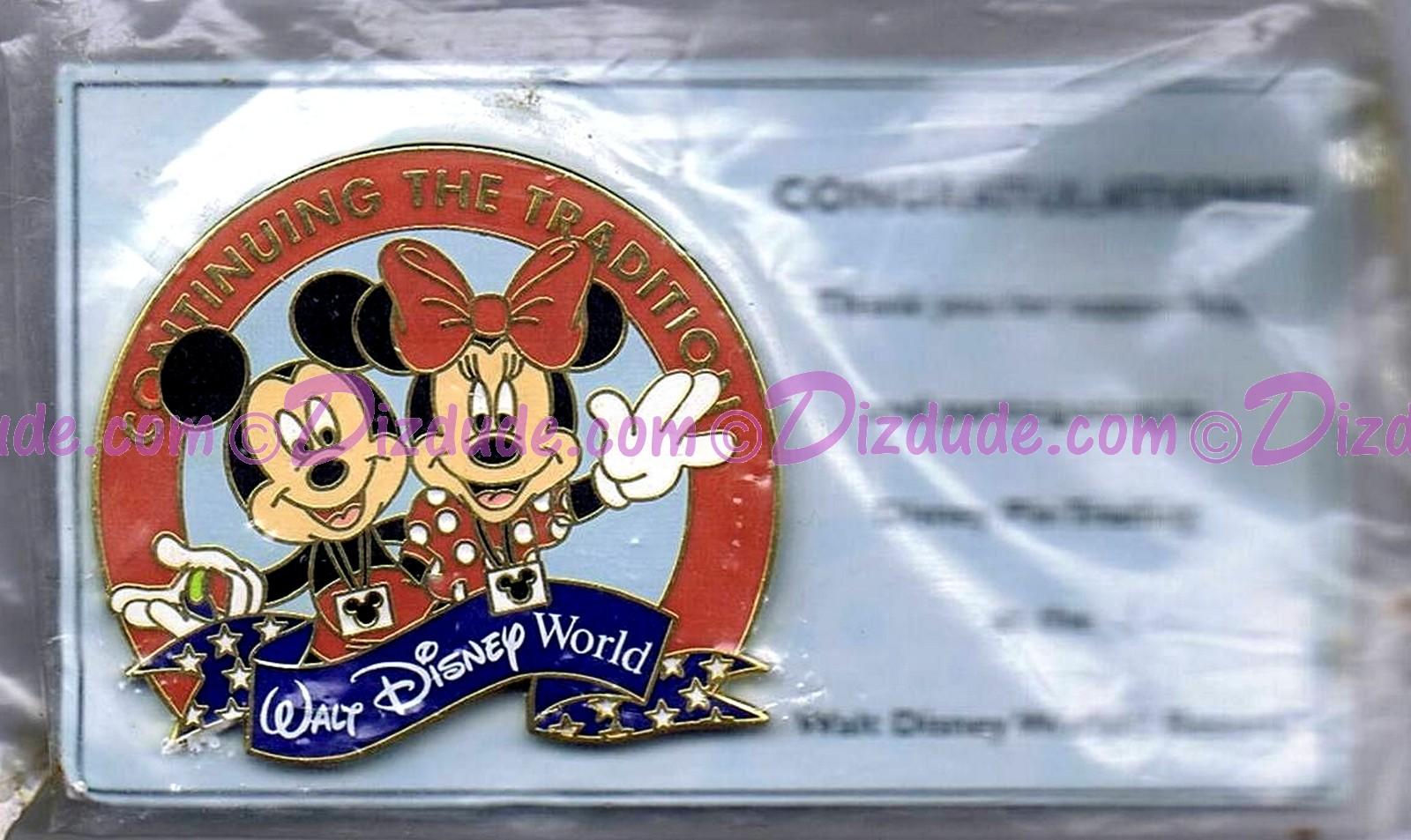 Walt Disney World Continuing the Tradition 2002 with Mickey & Minnie Pin © Dizdude.com