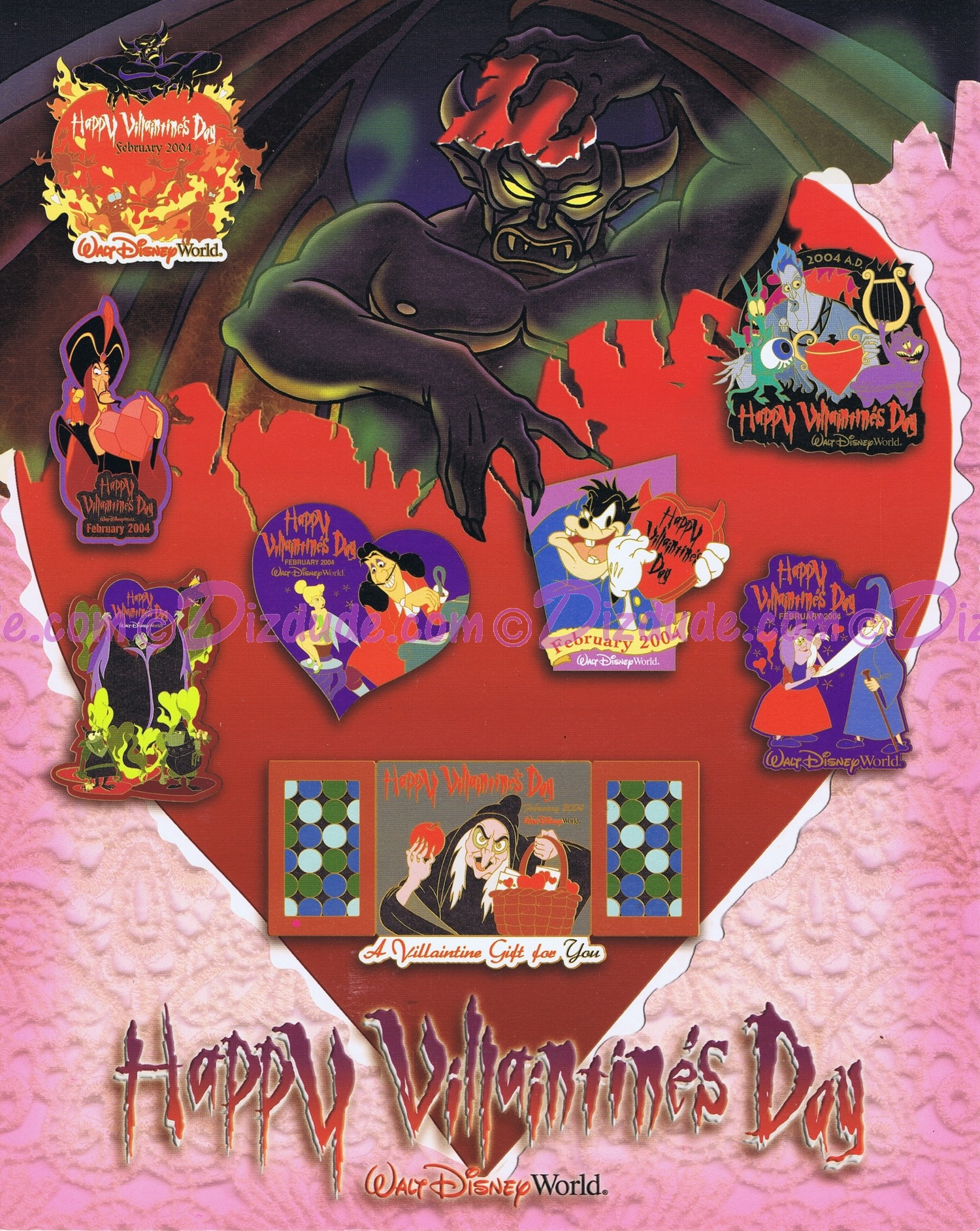 Walt Disney World - Happy Villaintine's Day 2004 Pin-Board © Dizdude.com