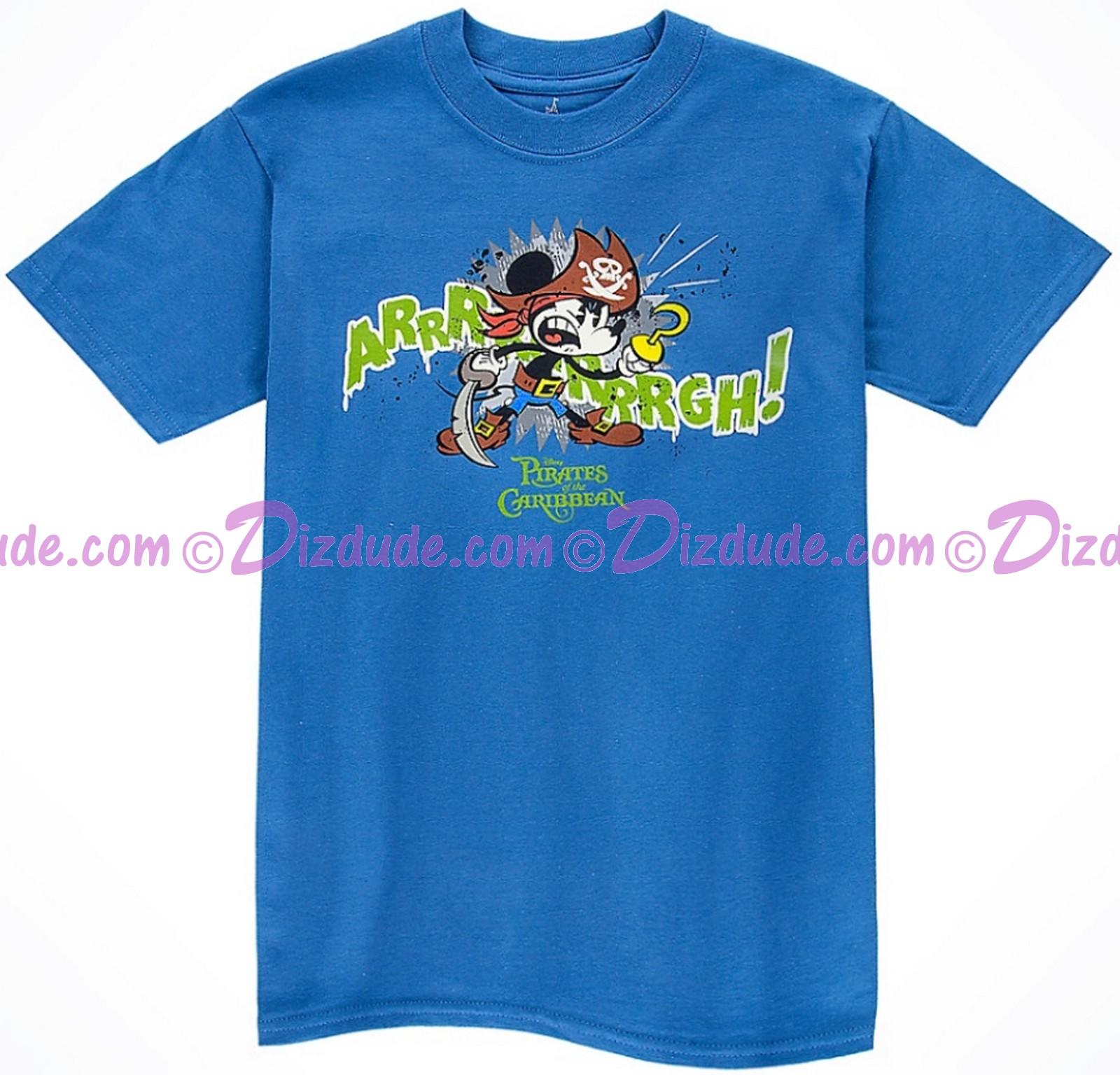 Vintage Disney Arrrrrrrrrrrrgh! Pirate Mickey Mouse Youth T-shirt (Tee, Tshirt or T shirt)