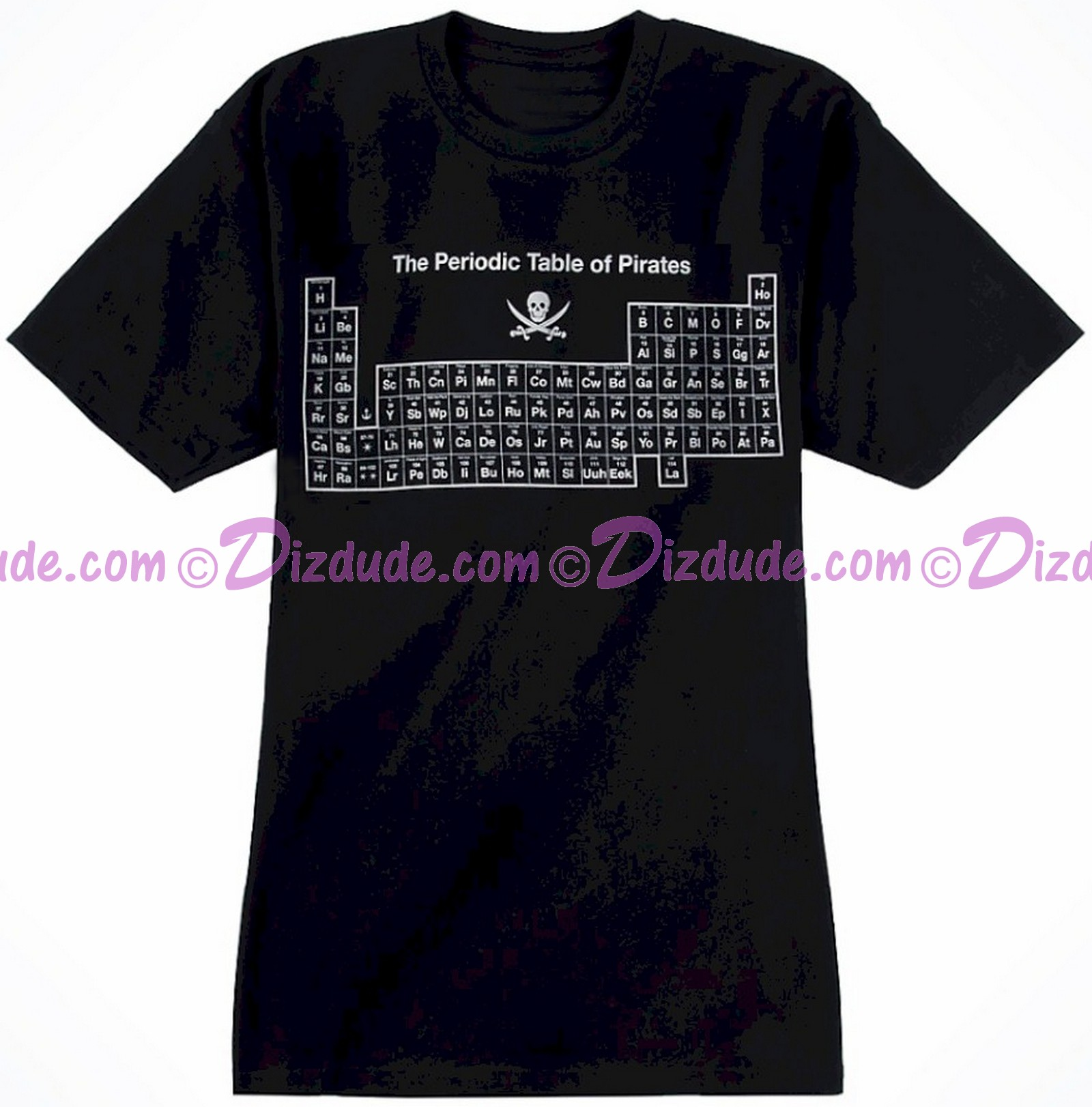 Vintage Disney Pirates of the Caribbean ~ The Periodic Table of Pirates T-shirt (Tee, Tshirt or T shirt)
