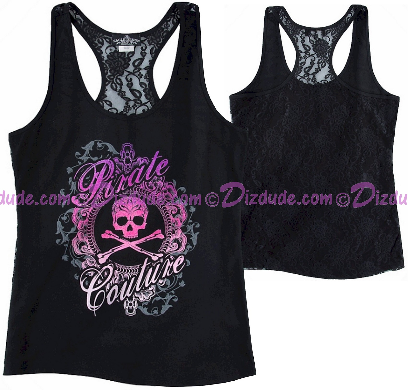 Pirate Couture Lace Tank Top Adult ~ Disney Magic Kingdom