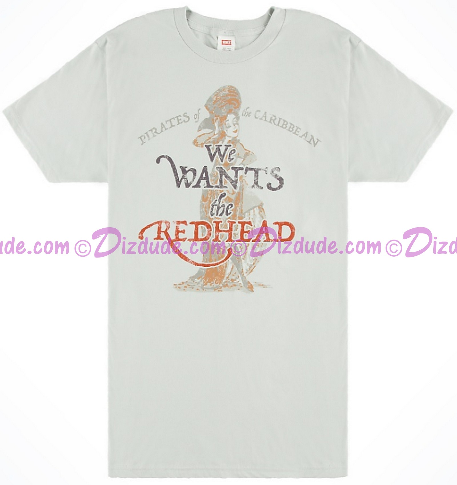 "Pirates of The Caribbean ""We Want's the Redhead"" Adult T-shirt (Tee, Tshirt or T shirt)"