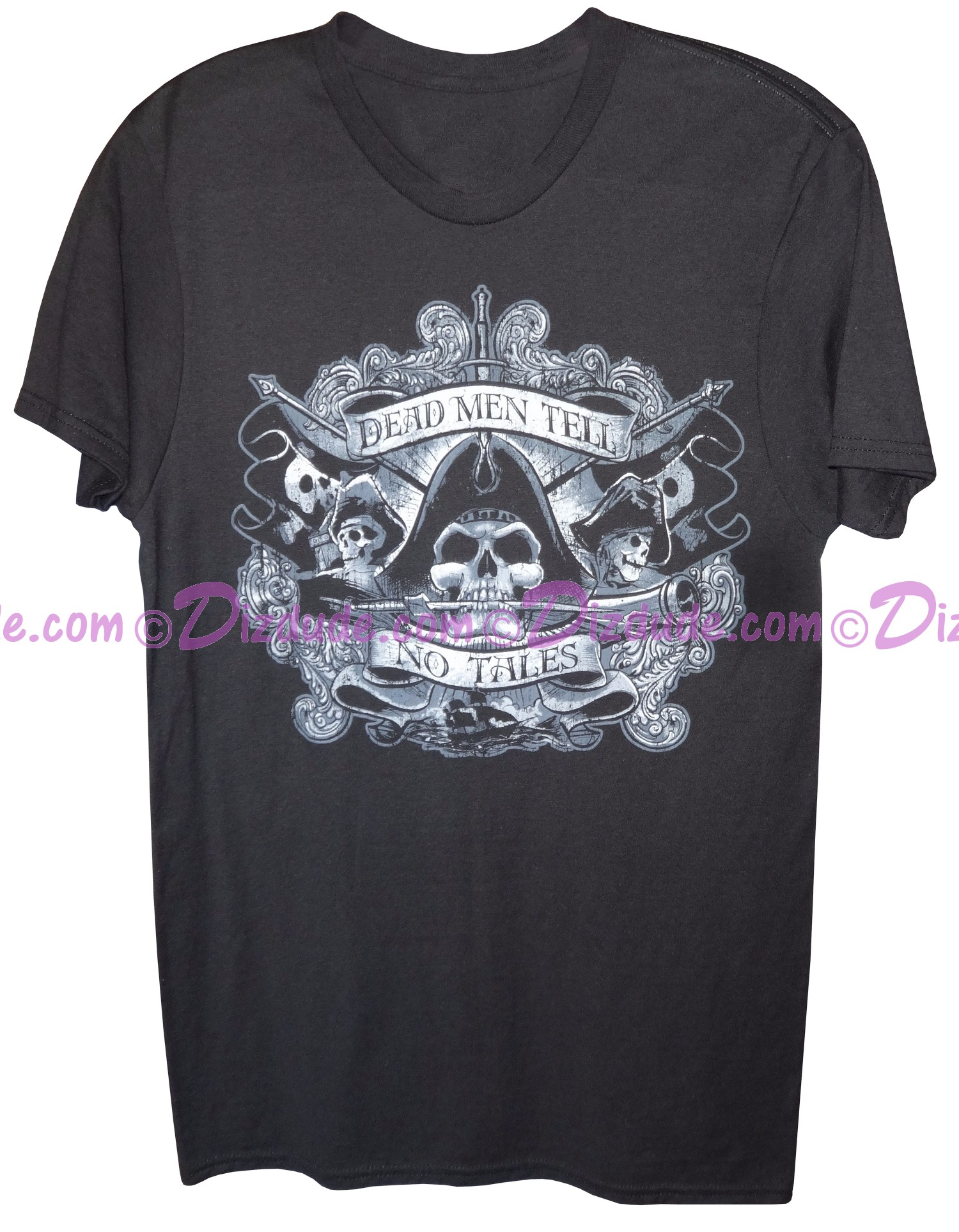 """Vintage Pirates of The Caribbean """"Dead Men Tell No Tales"""" Adult T-shirt (Tee, Tshirt or T shirt)"""