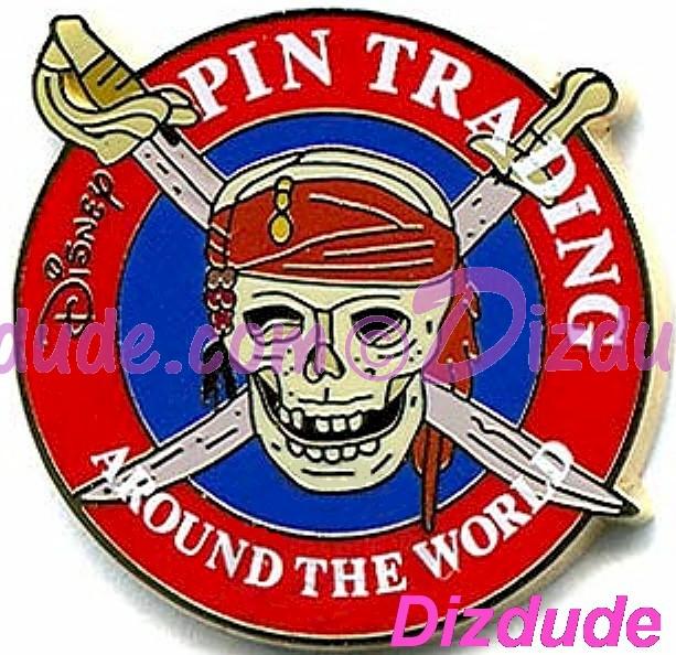 Disney's Pirates of the Caribbean Pin Trading Around the World  Promotional Skull Pin © DIZDUDE.COM