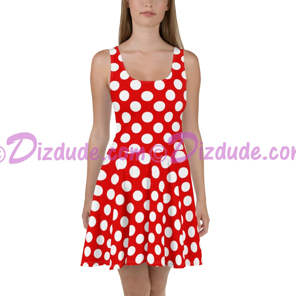 Red and White Polka Dots All Over Print Ladies Sun Dress © Hippieworks