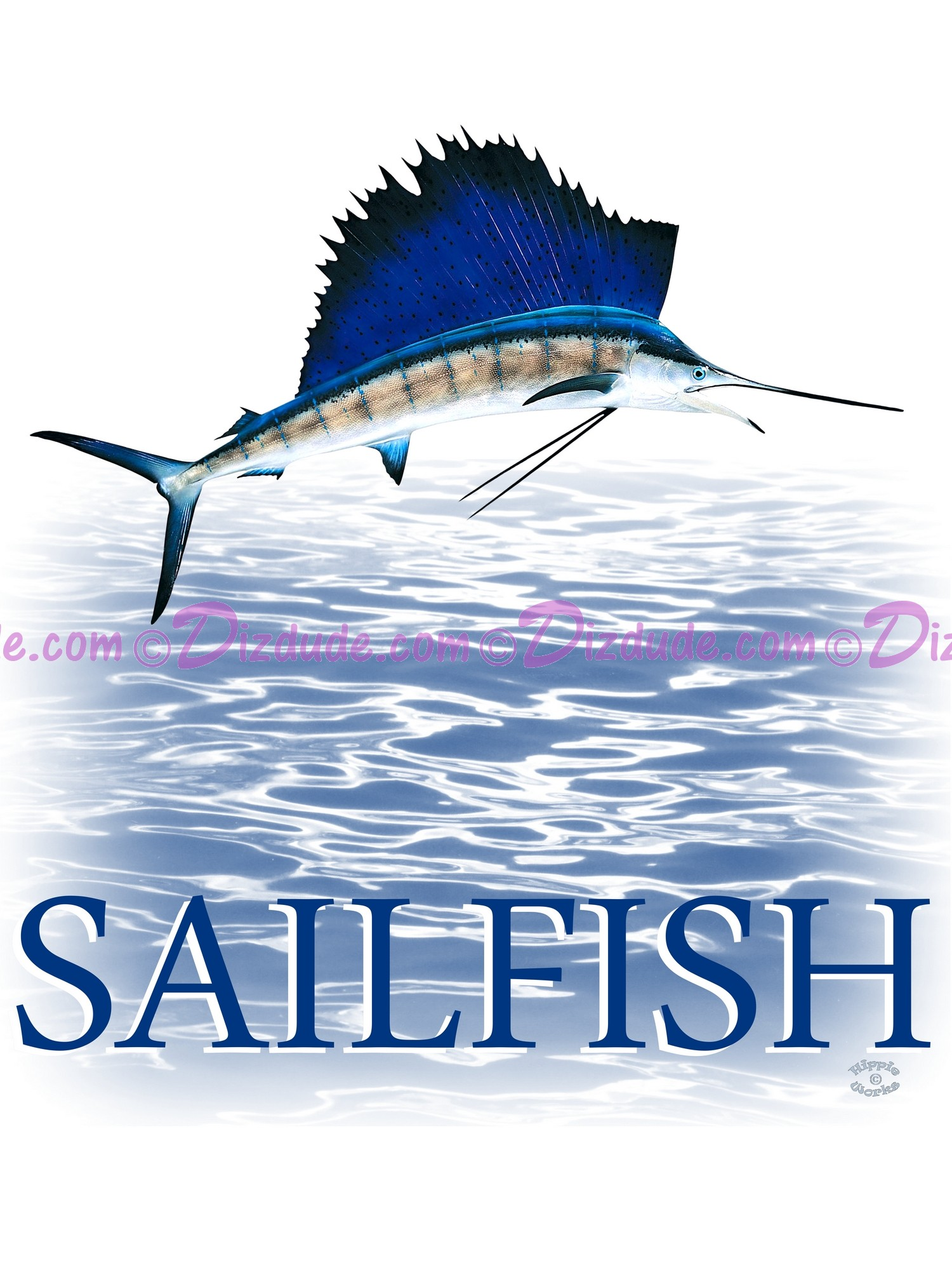 Sailfish T-Shirt or Tank Top  (Tshirt, T shirt or Tee) © Hippieworks