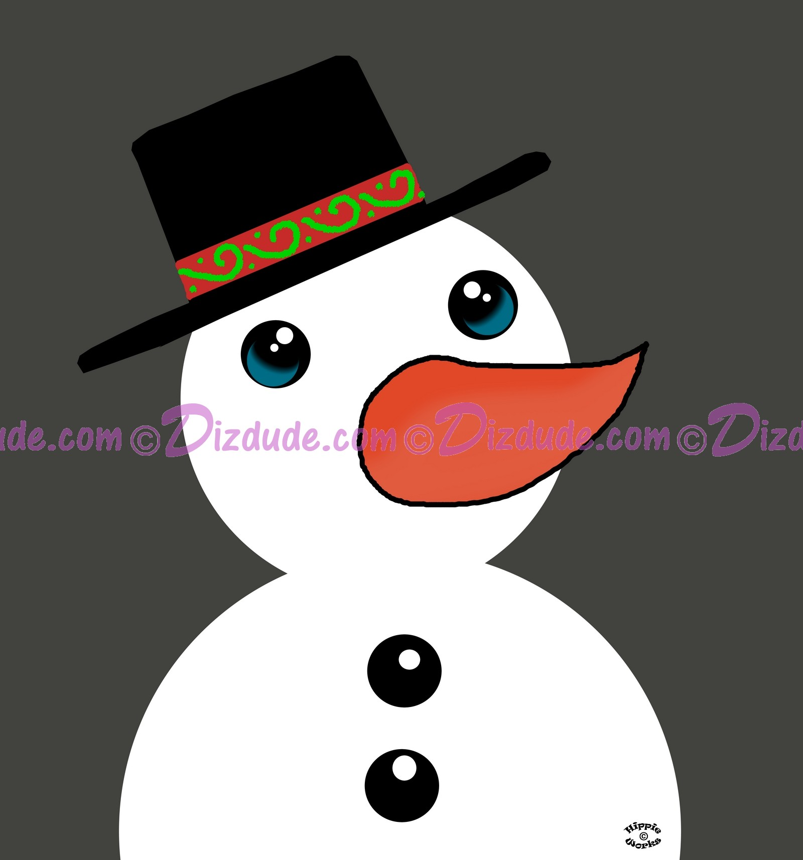 Snowman T-Shirt or Tank Top (Tshirt, T shirt or Tee) © Hippieworks