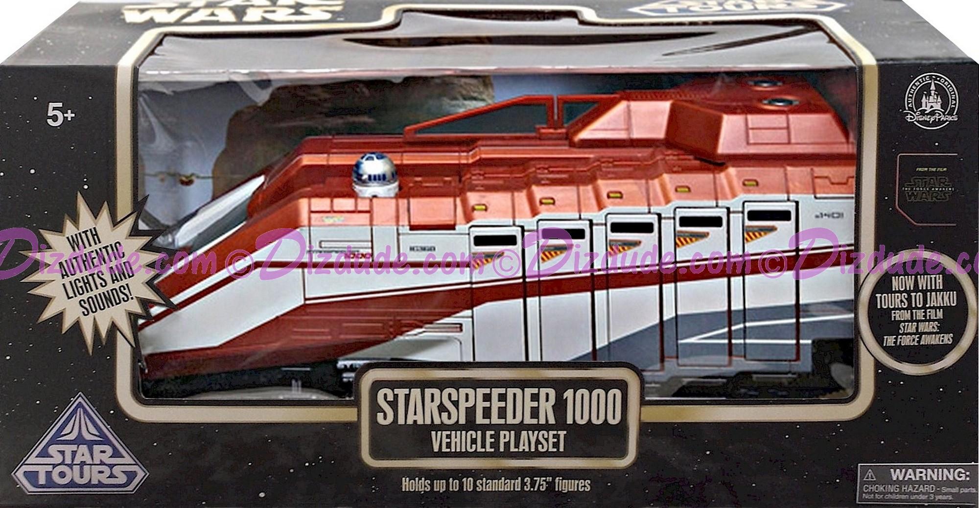 Star Tours / Star Wars StarSpeeder 1000 Vehicle Playset - Disney Star Wars: The Force Awakens ~ Jakku © Dizdude.com