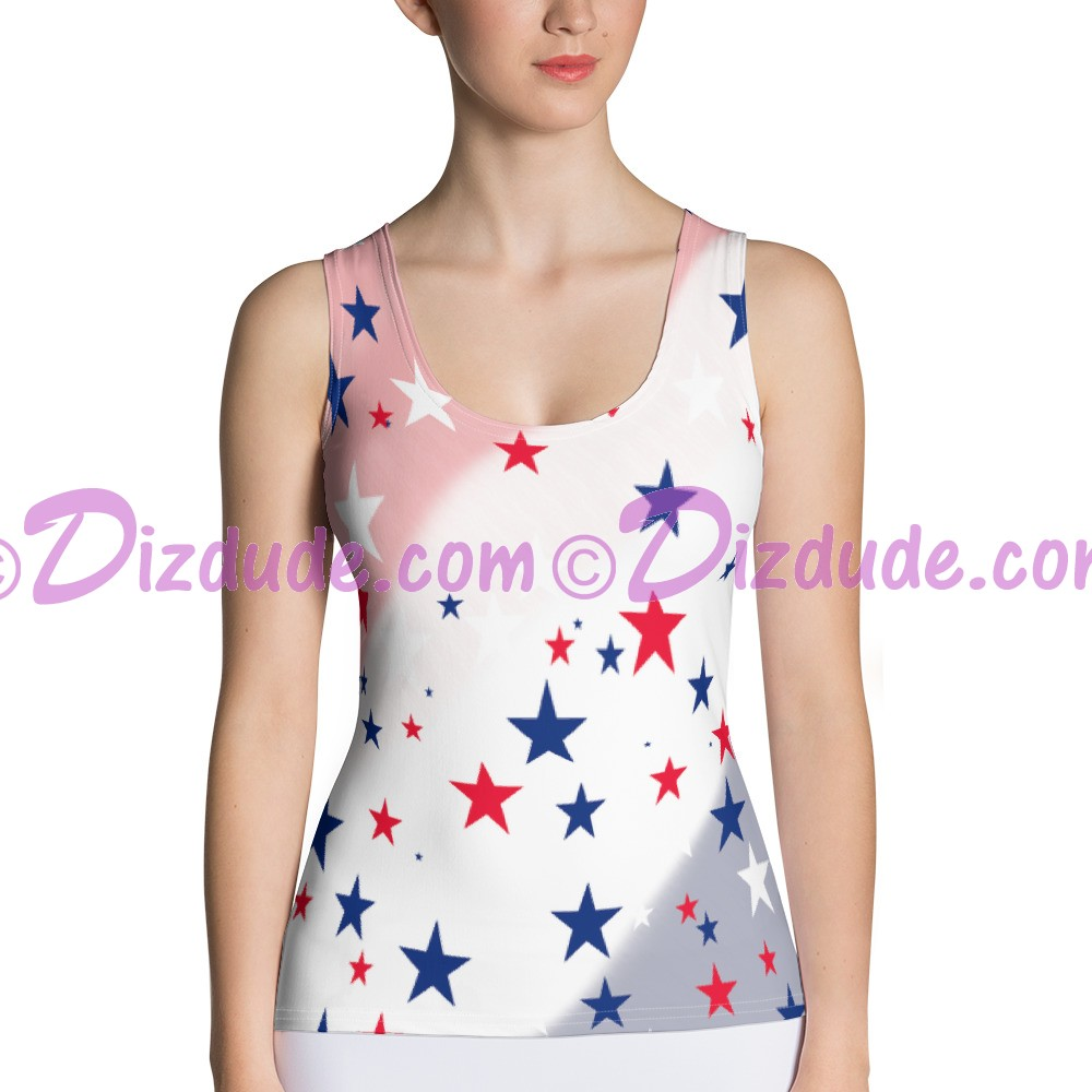 Stars and Stripes All Over Print Ladies Tank Top © Hippieworks