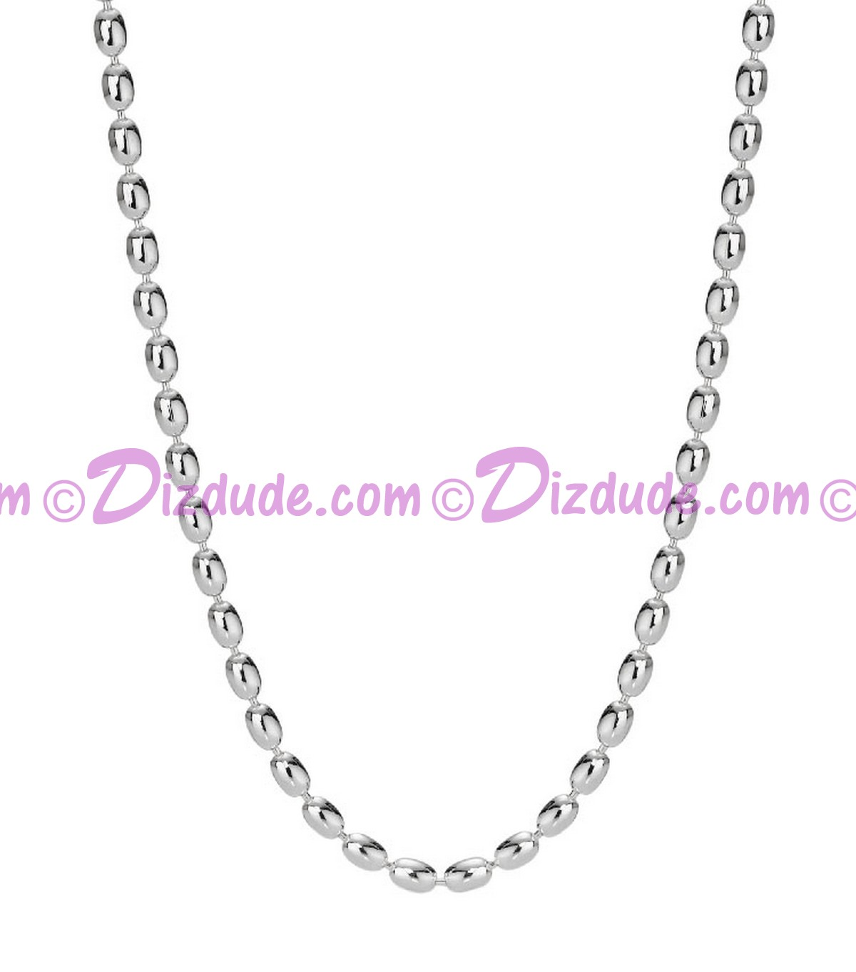 Disney Pandora Sterling Silver Wheat Style Chain Necklace