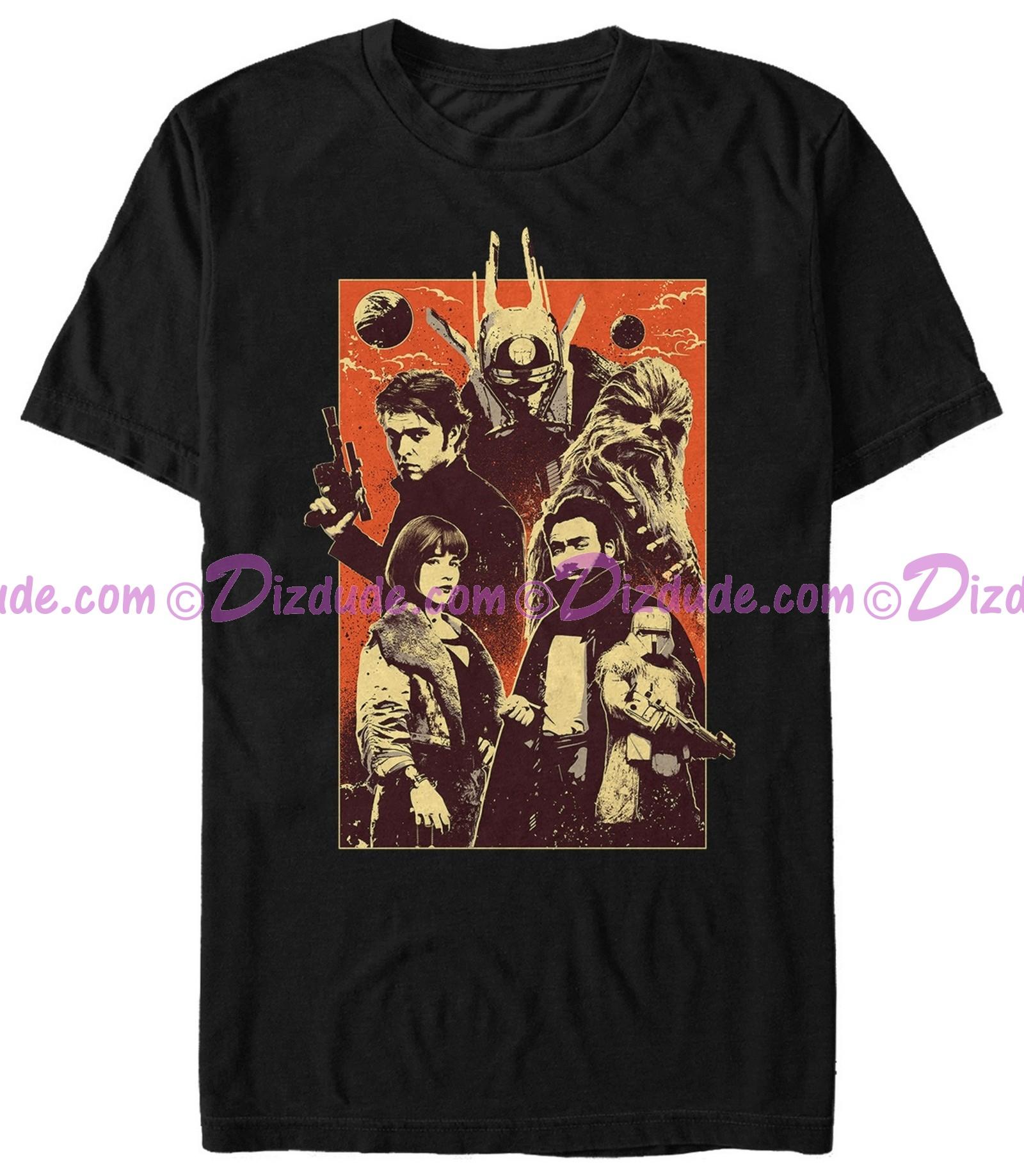 SOLO A Star Wars Story Character Poster Adult T-Shirt (Tshirt, T shirt or Tee)  © Dizdude.com