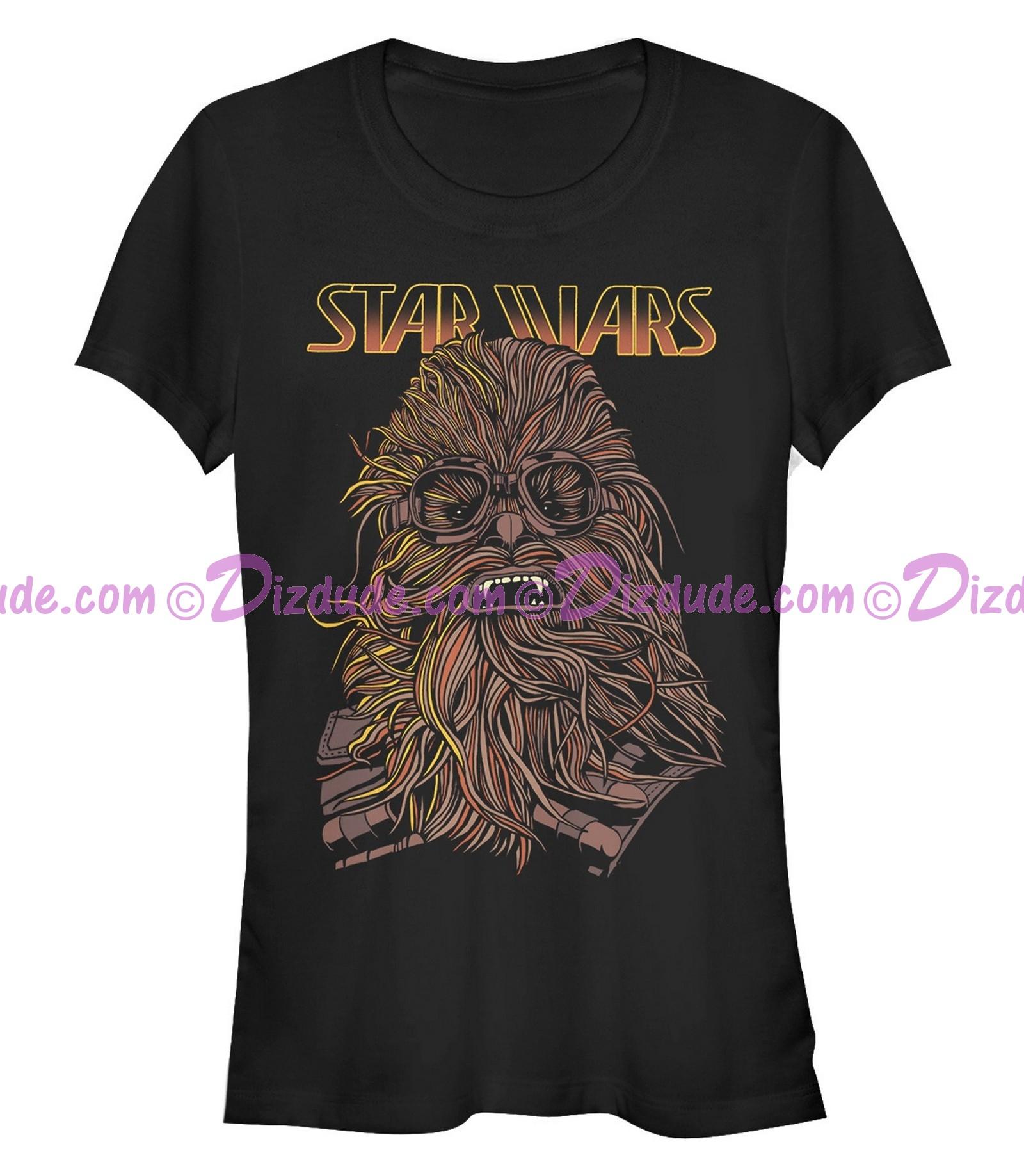 SOLO A Star Wars Story Cartoon Chewie Juniors T-Shirt (Tshirt, T shirt or Tee)  © Dizdude.com
