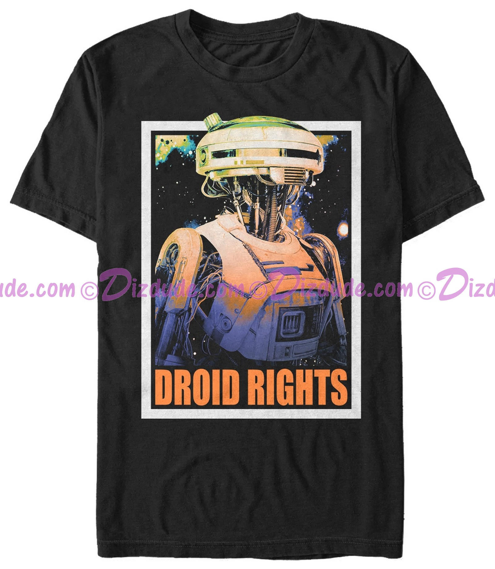 SOLO A Star Wars Story L3-37 Droid Rights Adult T-Shirt (Tshirt, T shirt or Tee)  © Dizdude.com