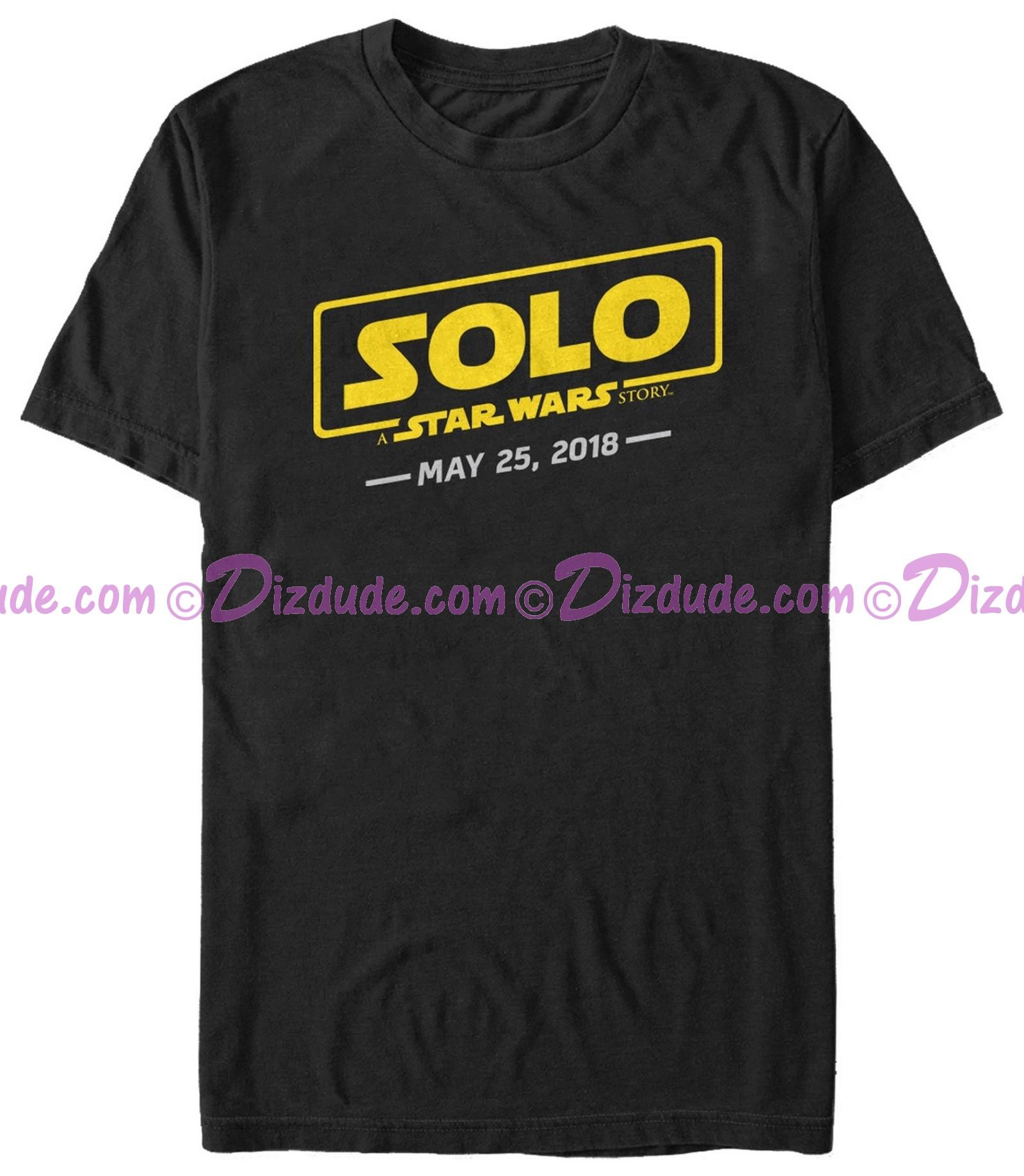 SOLO A Star Wars Story Logo Scrawl Adult T-Shirt (Tshirt, T shirt or Tee)  © Dizdude.com