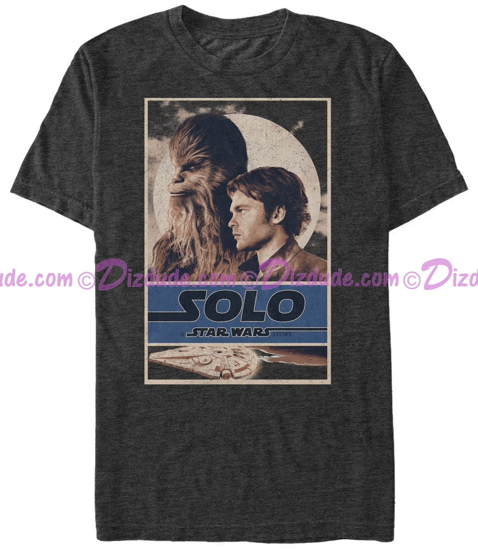 SOLO A Star Wars Story Vintage Partners In Crime Adult T-Shirt (Tshirt, T shirt or Tee)  © Dizdude.com