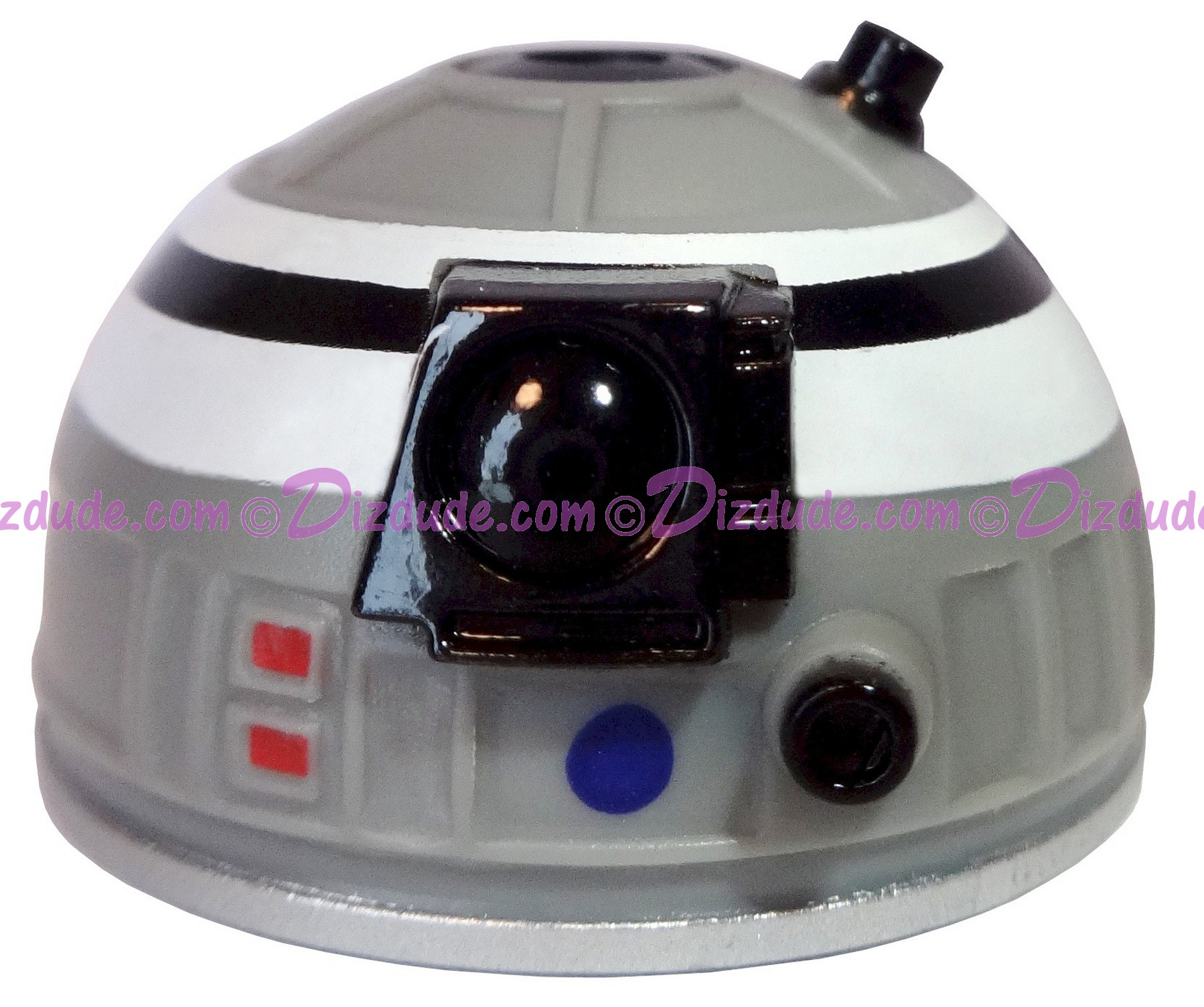Gray White & Black Astromech Droid Dome ~ Series 2 from Disney Star Wars Build-A-Droid Factory © Dizdude.com