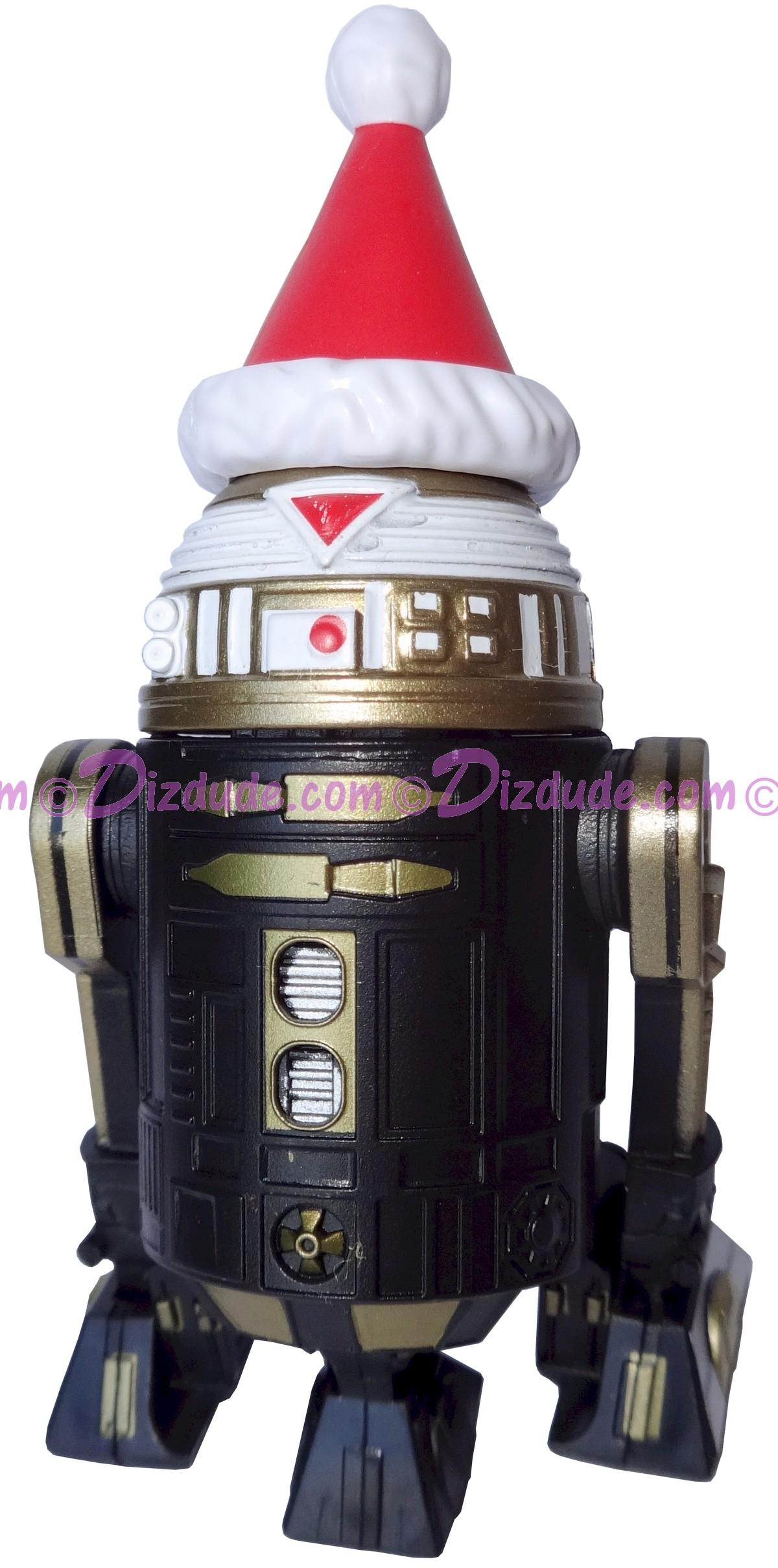 Christmas Black & Gold R7 with Santa Hat Astromech Droid ~ Series 2 Disney Star Wars Build-A-Droid Factory © DIZDUDE.COM