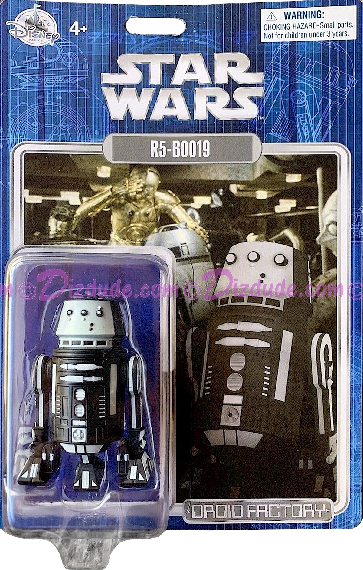 Star Wars R5-B0019 - R5-BOO19 Astromech Droid - Disney World DROID FACTORY Action Figures 3¾ Inch - Limited Release © Dizdude.com