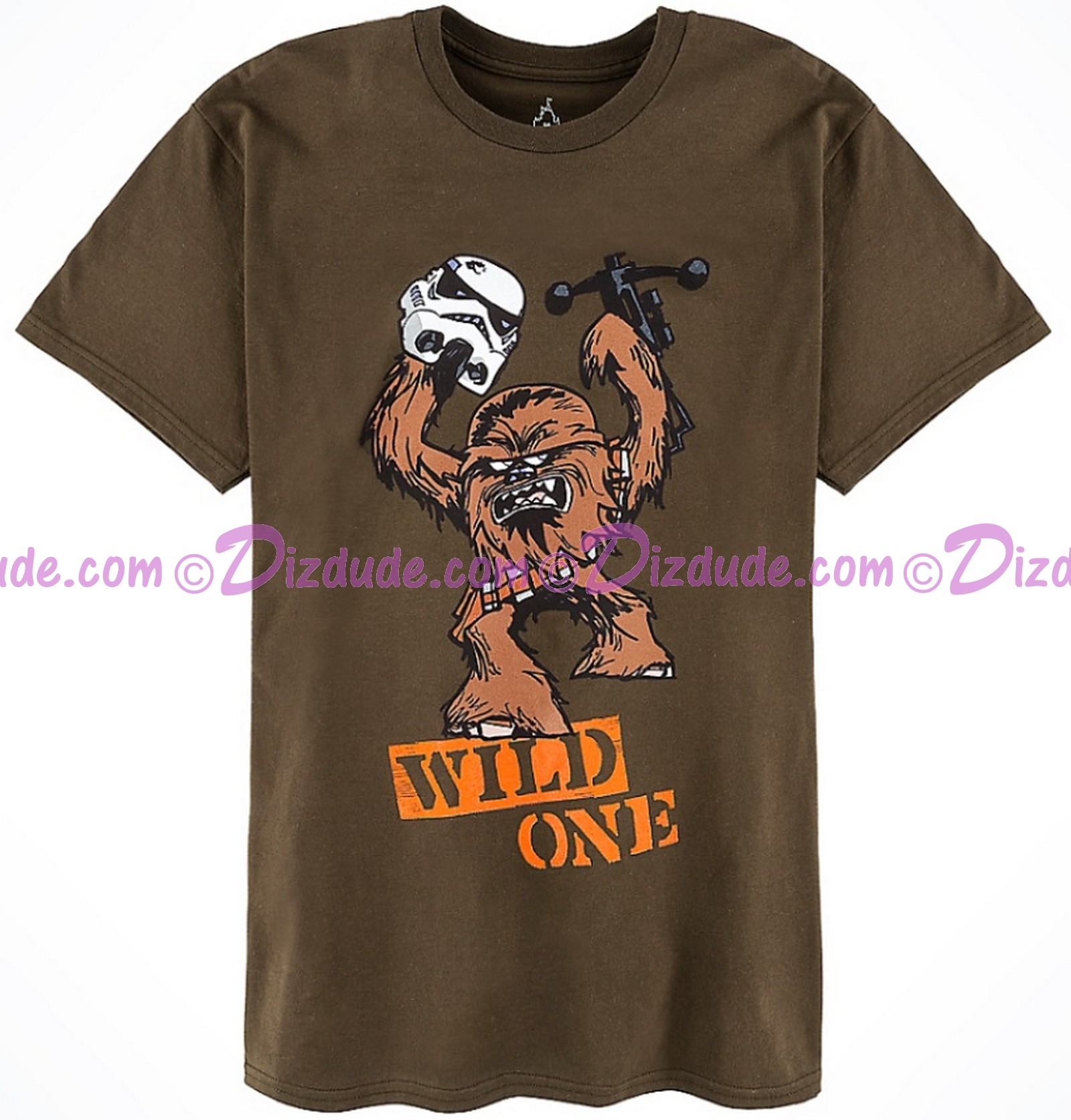 Chewbacca Wild One Adult T-Shirt (Tshirt, T shirt or Tee) - Disney Star Wars © Dizdude.com