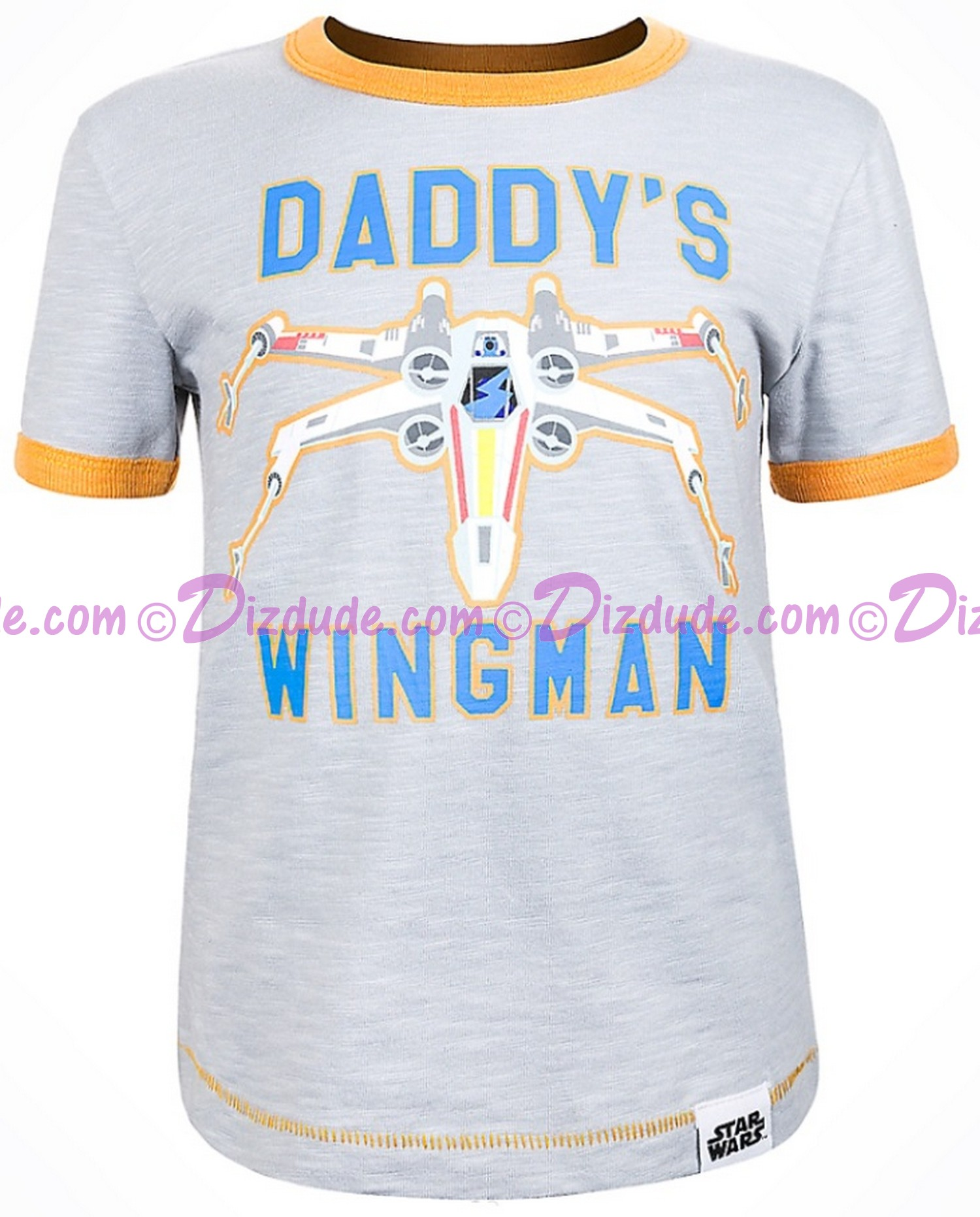 (SOLD OUT) Disney Star Wars Episode VIII: The Last Jedi - Daddy's Wingman Toddler Ringer T-Shirt (Tshirt, T shirt or Tee)