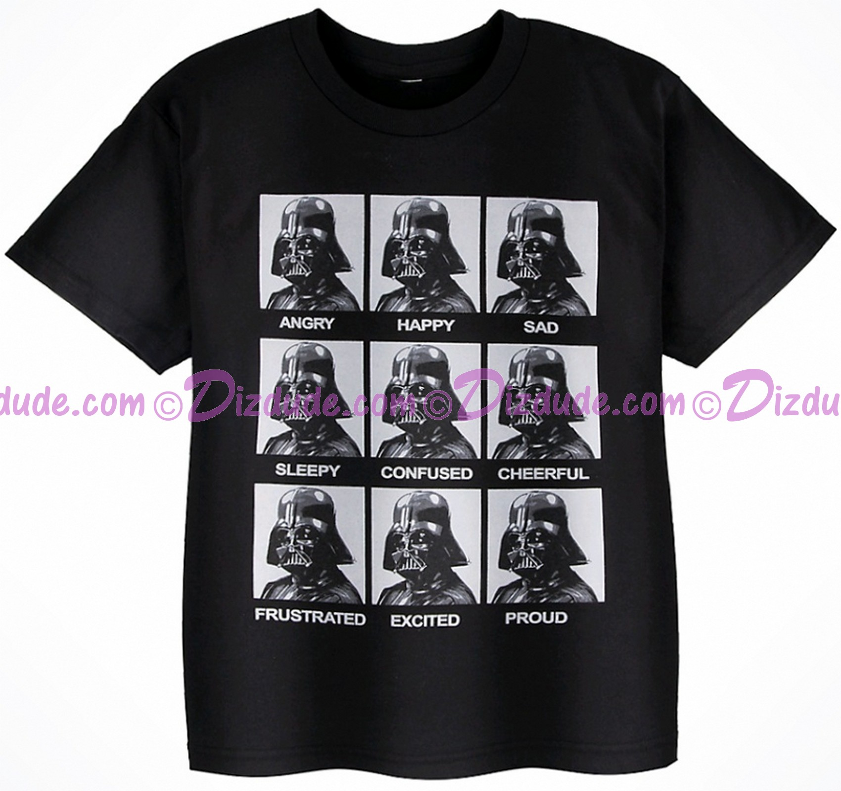 Vintage Star Wars Darth Vader Emotions Youth T-Shirt (Tshirt, T shirt or Tee) © Dizdude.com
