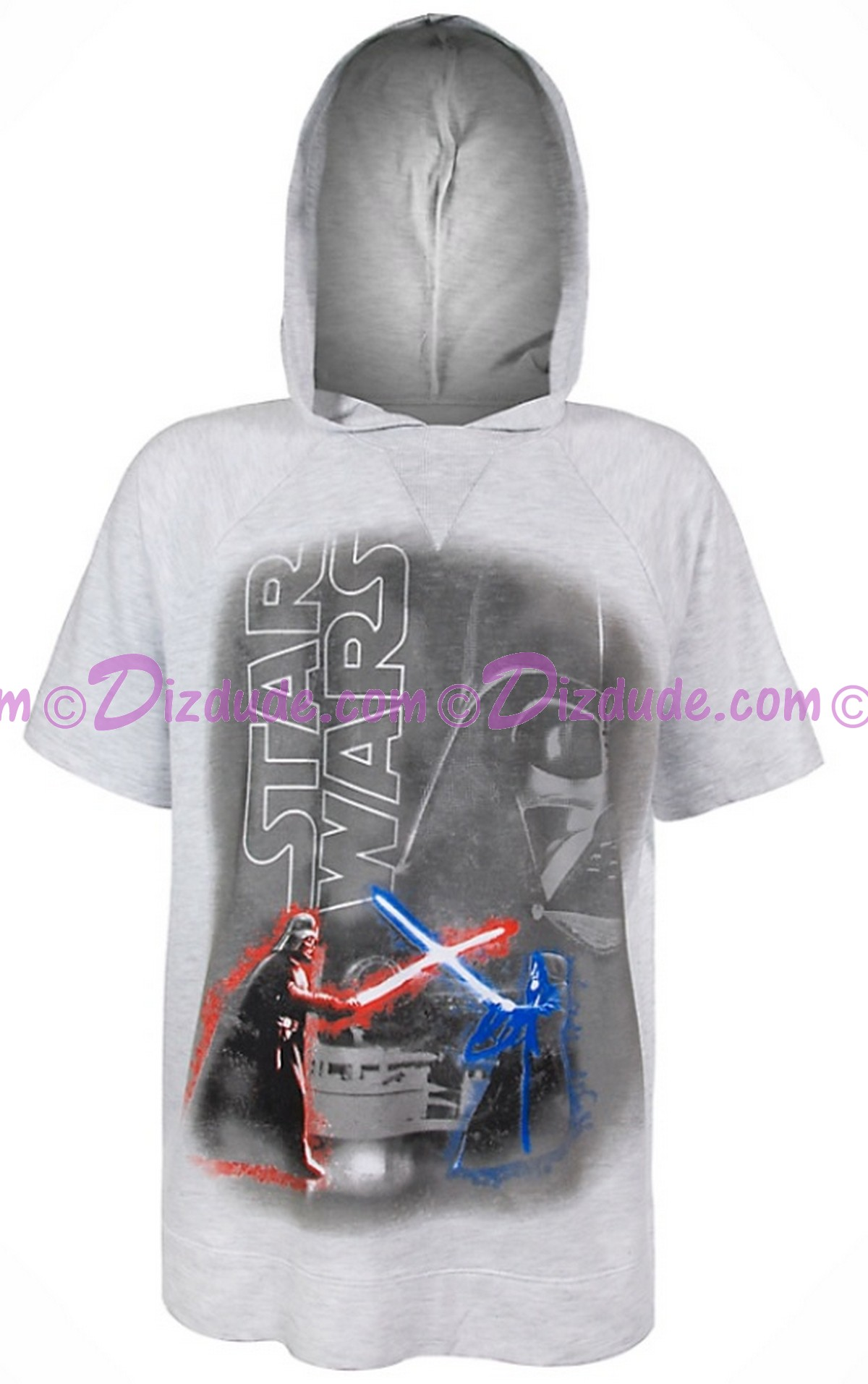Disney Star Wars Darth Vader Adult Hooded T-Shirt (Tshirt, T shirt or Tee) © Dizdude.com