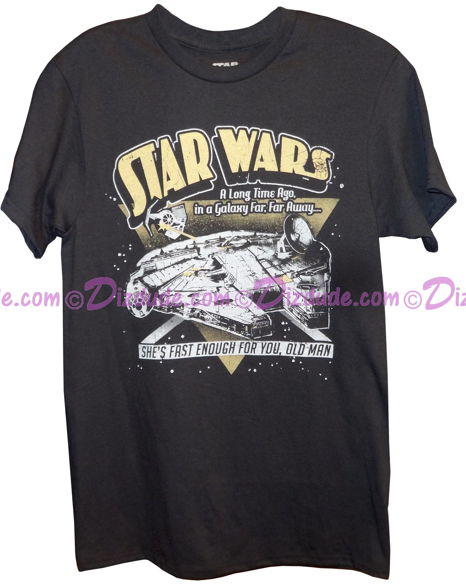 Disney Star Wars Millennium Falcon She's Fast Enough For You Old Man Adult T-Shirt (Tshirt, T shirt or Tee) © Dizdude.com