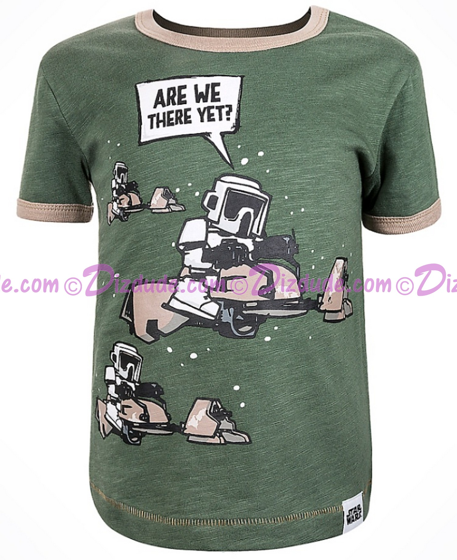 Disney Star Wars Episode VIII: The Last Jedi - Are We There Yet? Biker Scout Toddler Ringer T-Shirt (Tshirt, T shirt or Tee) © Dizdude.com