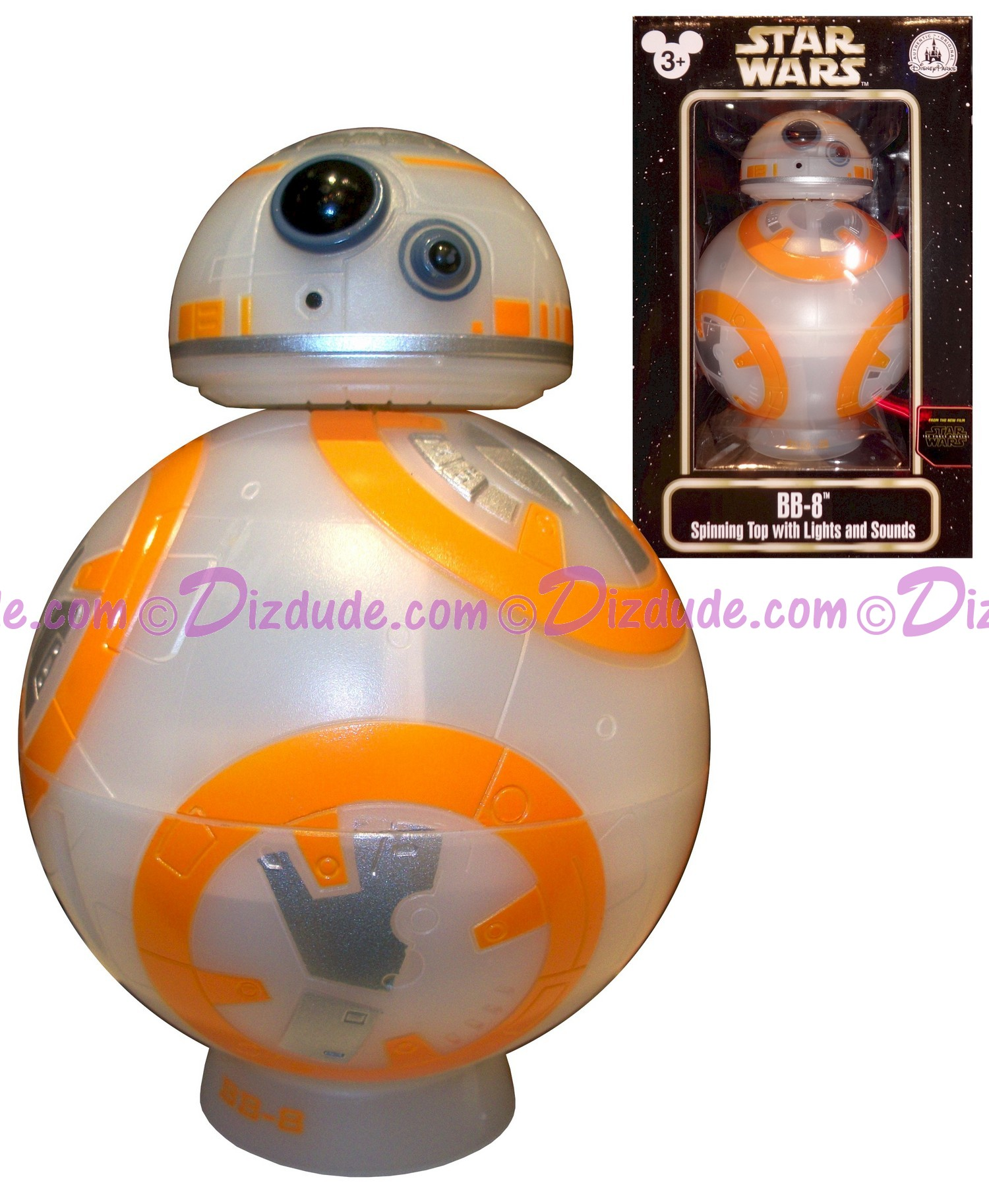Disney Star Wars: The Force Awakens BB-8 (BB8) Spinning Top with Lights and Sounds