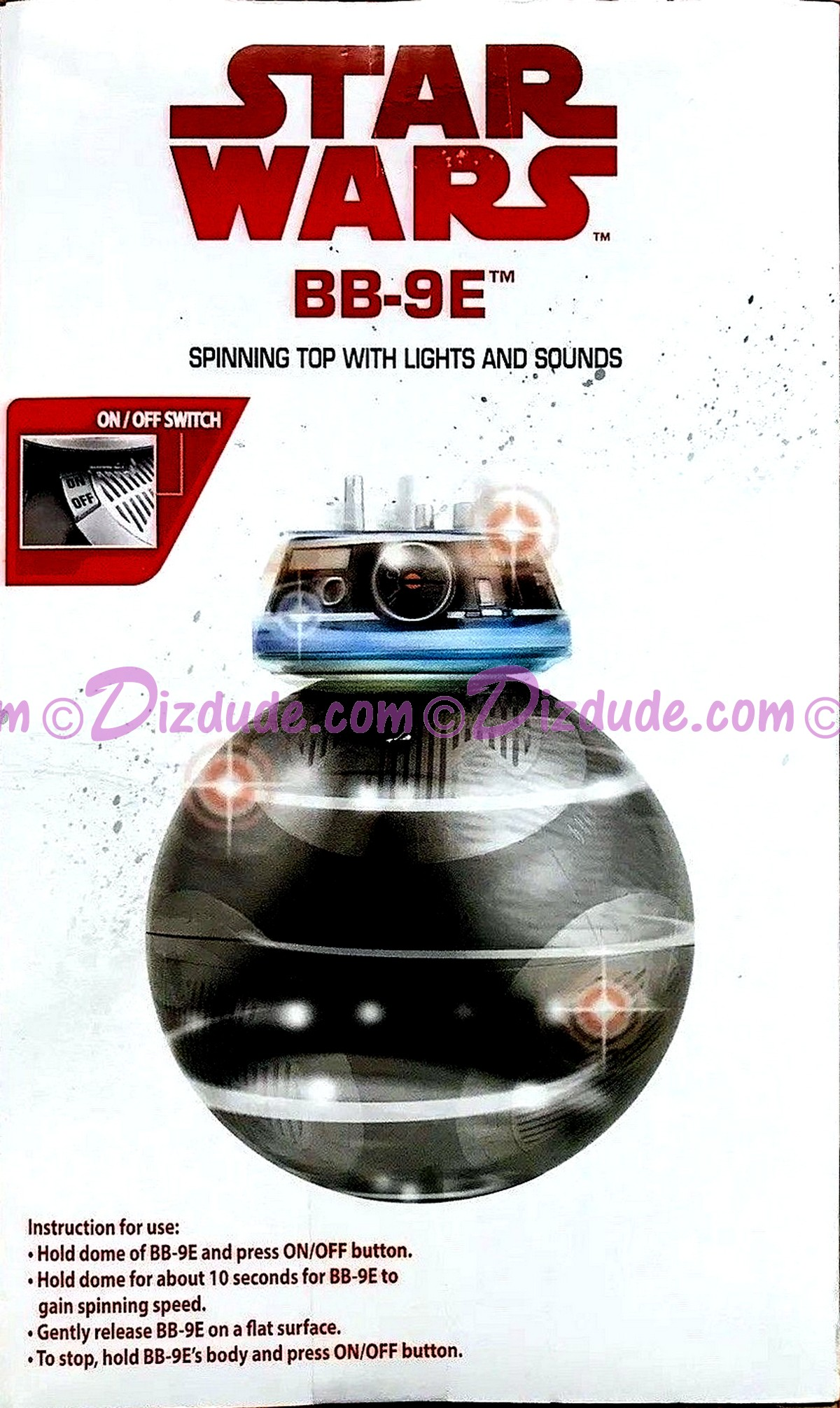 Star Wars BB-9E Spinning Top with Lights and Sounds