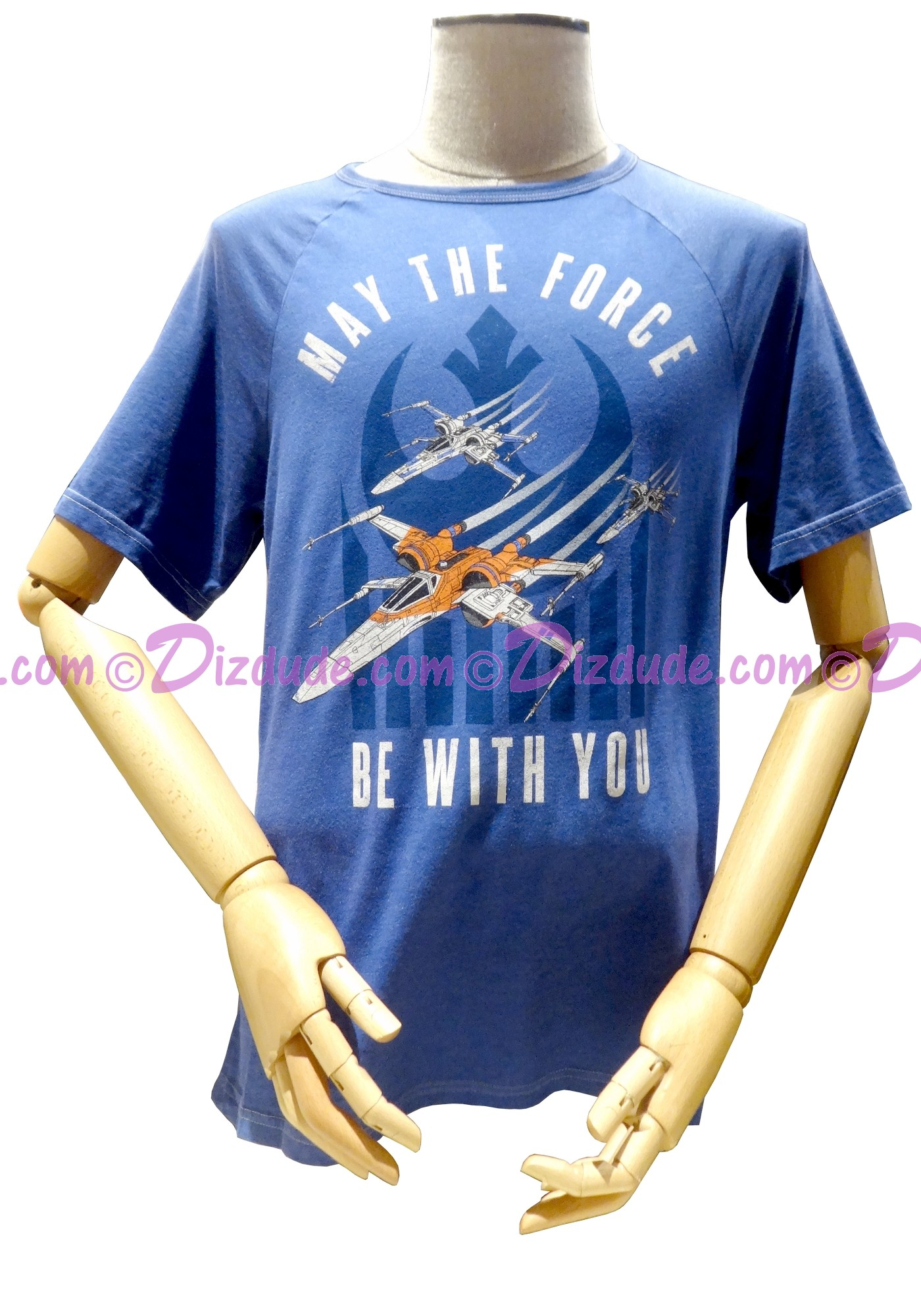 Disney Star Wars The Rise Of Skywalker May The Force Be With You Adult T-Shirt (Tshirt, T shirt or Tee) © Dizdude.com